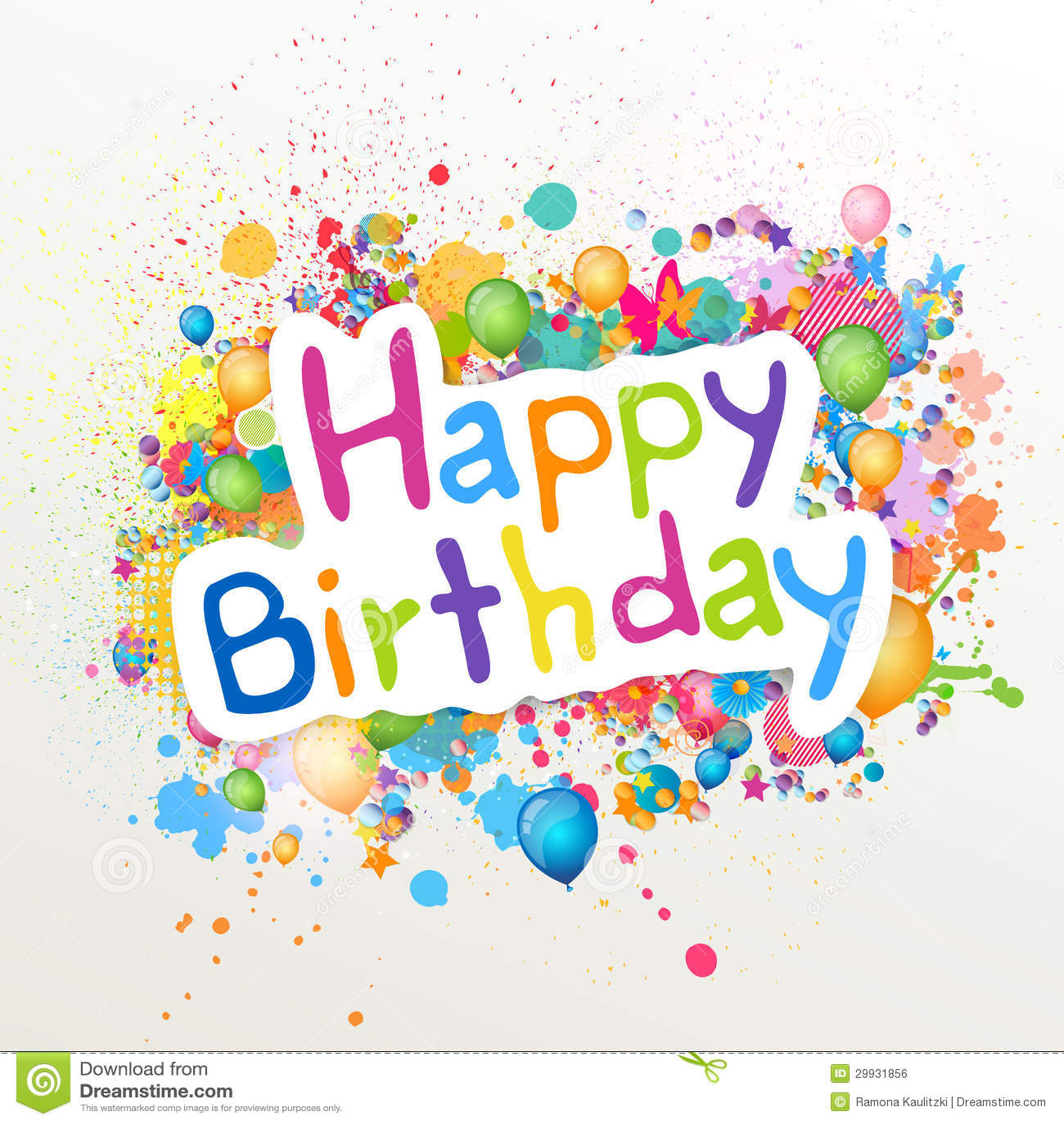 Happy Birthday Stock Illustration. Image Of Anniversary