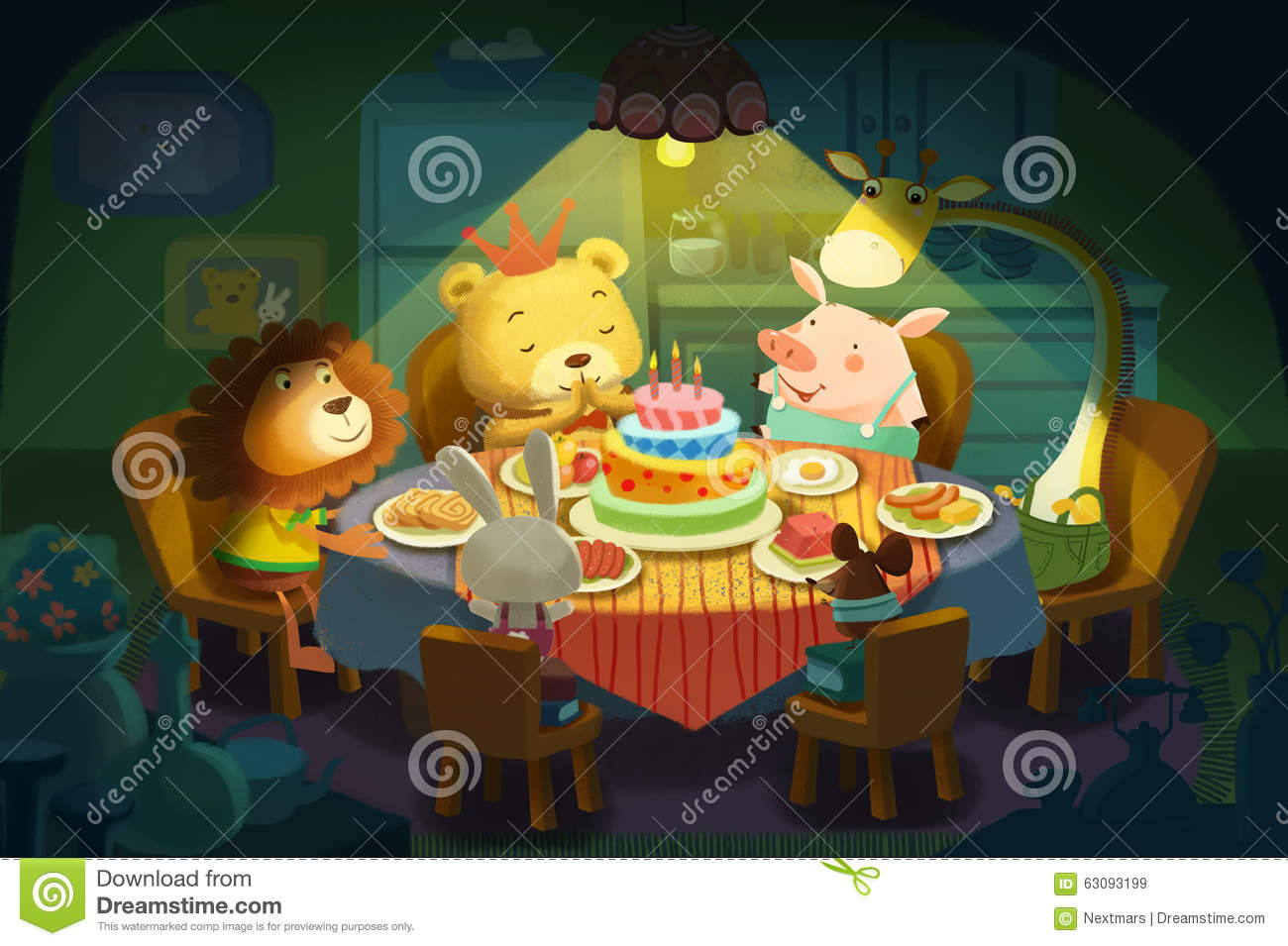 Illustration Happy Birthday It Is Little Bear S Birthday All His