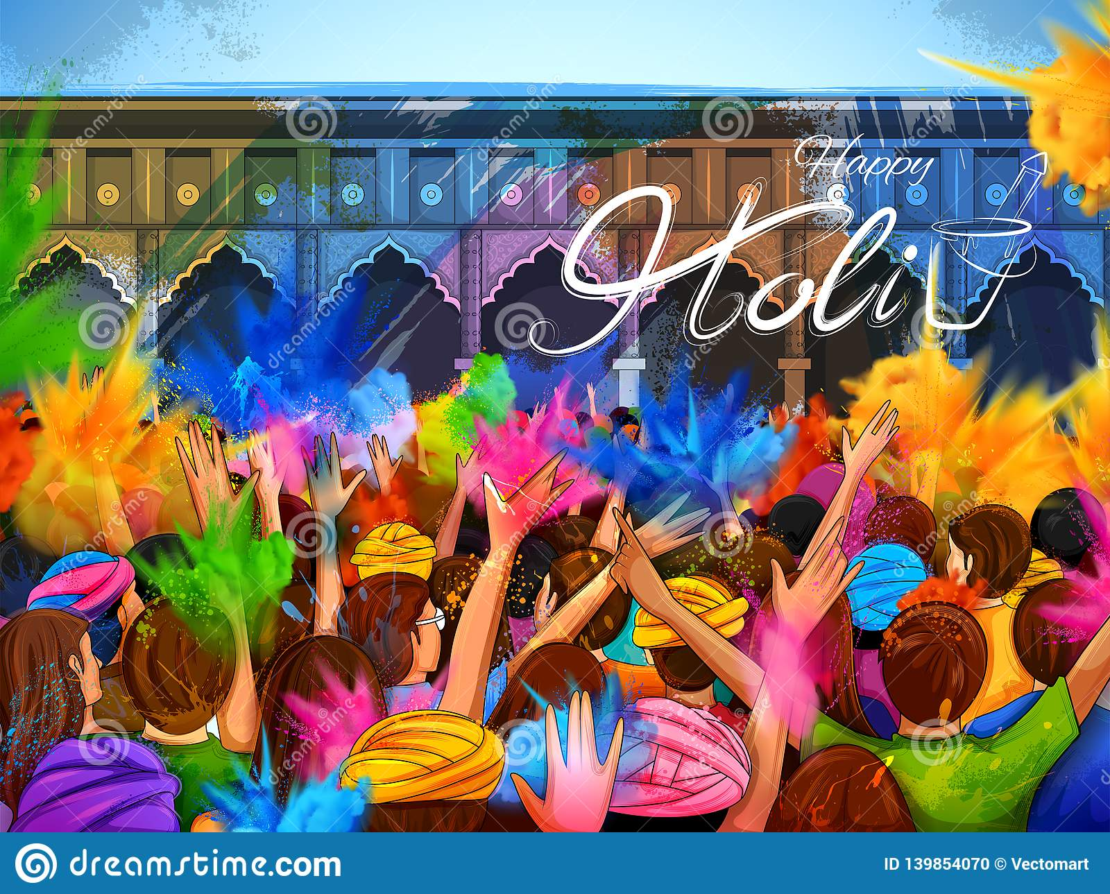 Colorful Promotional Background For Festival Of Colors Celebration