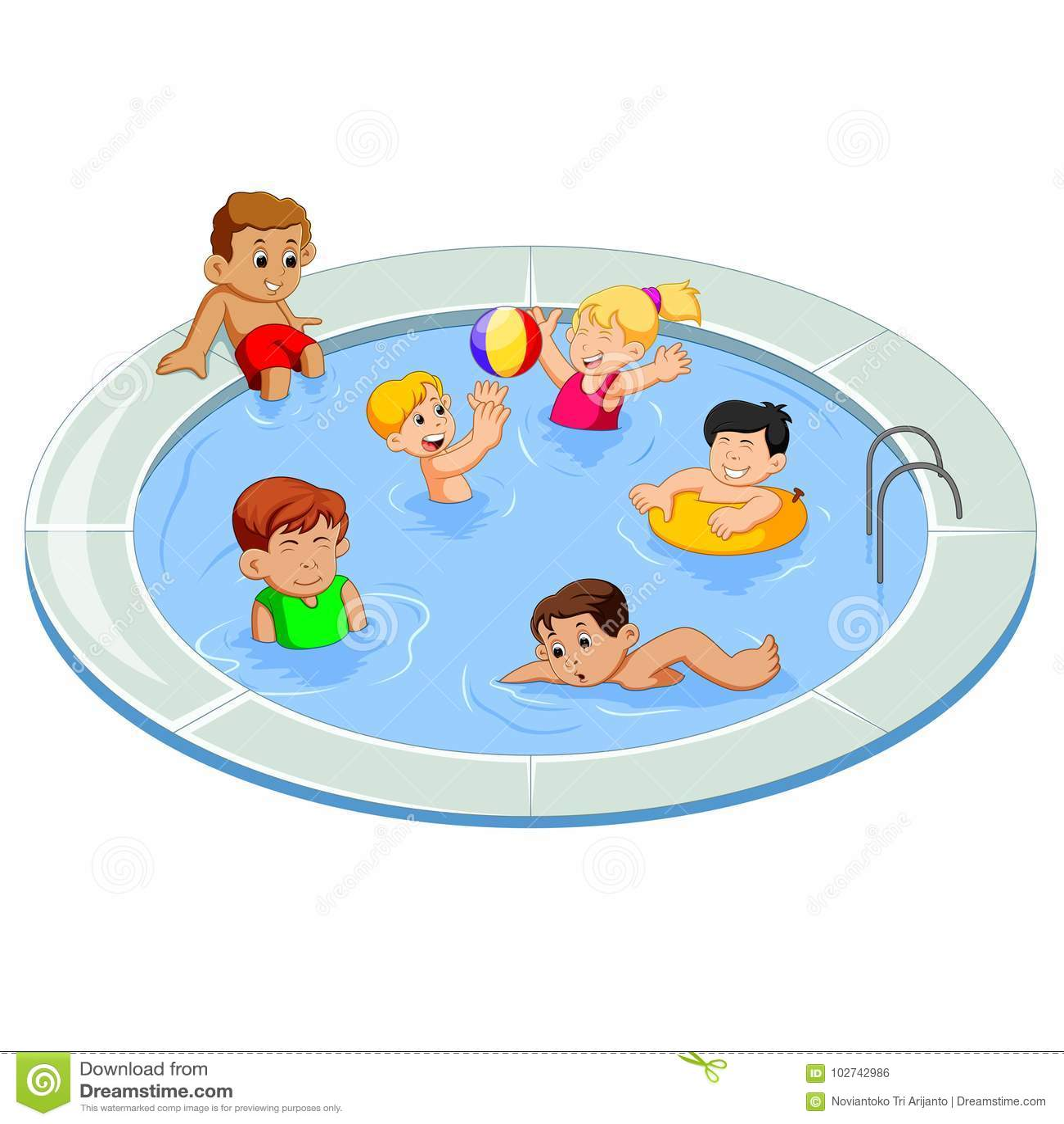 Kids swimming stock illustrations 3 182 kids swimming - Clipart piscine ...