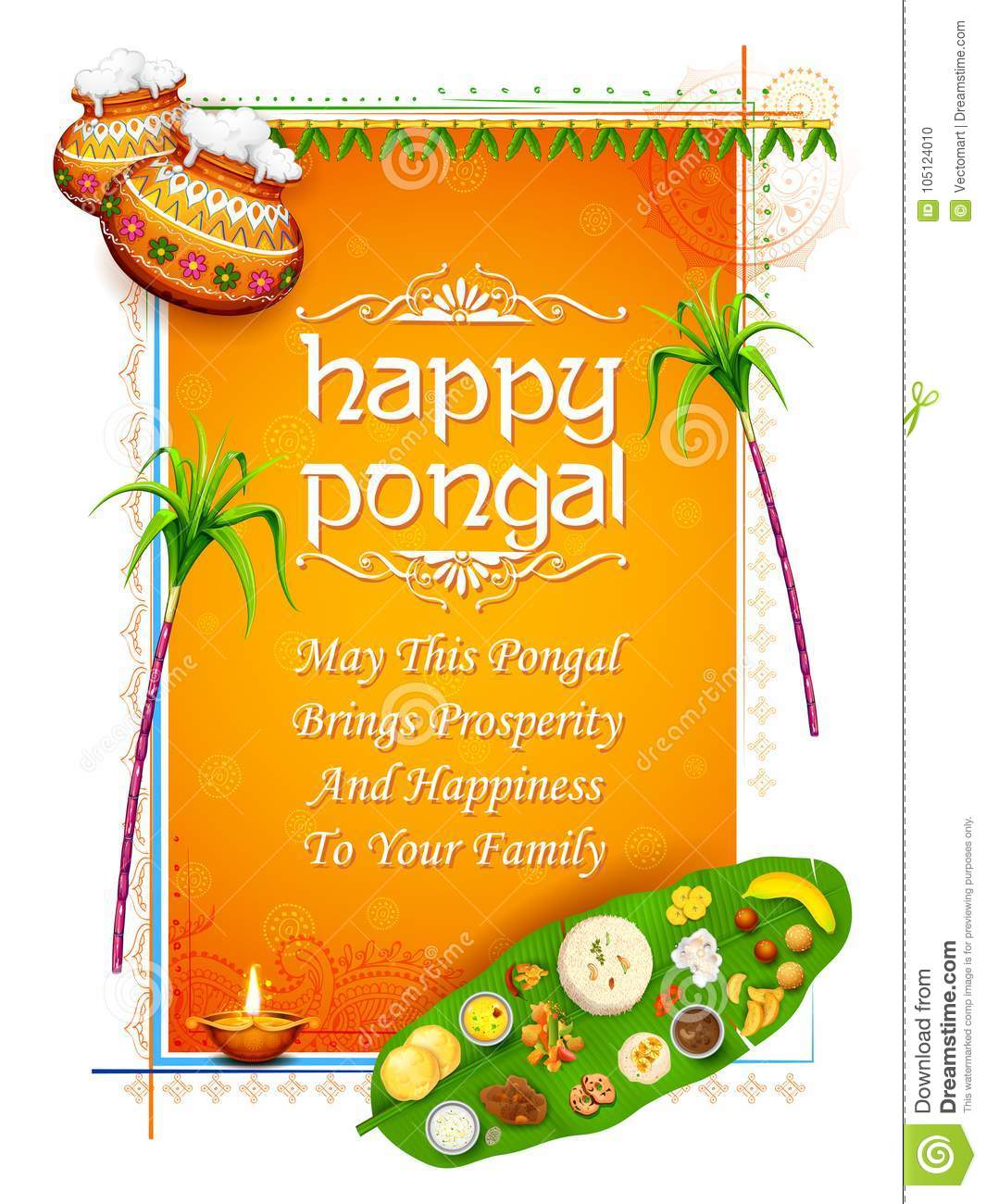 Happy pongal holiday harvest festival of tamil nadu south india happy pongal holiday harvest festival of tamil nadu south india greeting background m4hsunfo