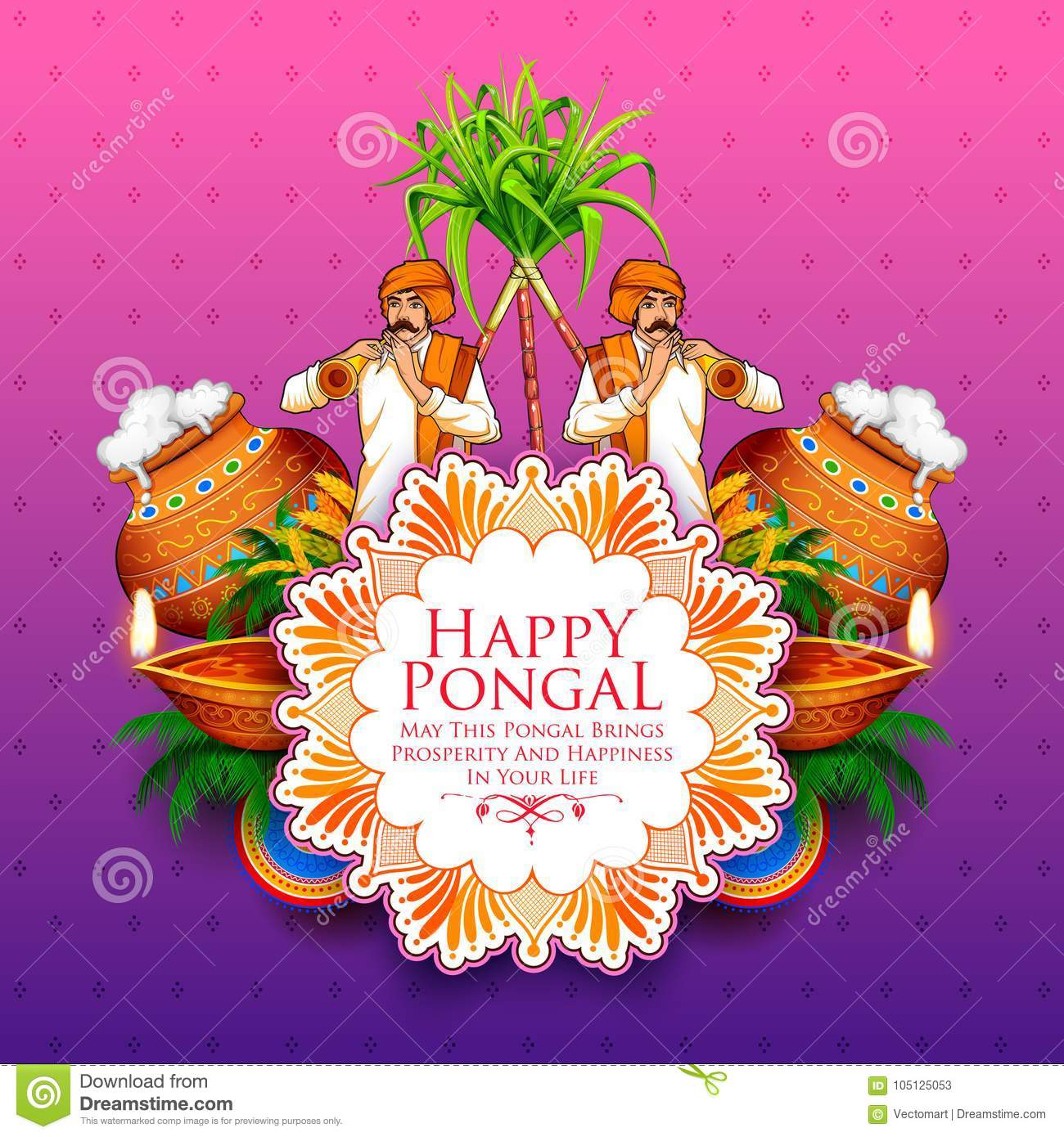 Happy pongal holiday harvest festival of tamil nadu south india download happy pongal holiday harvest festival of tamil nadu south india greeting background stock vector m4hsunfo