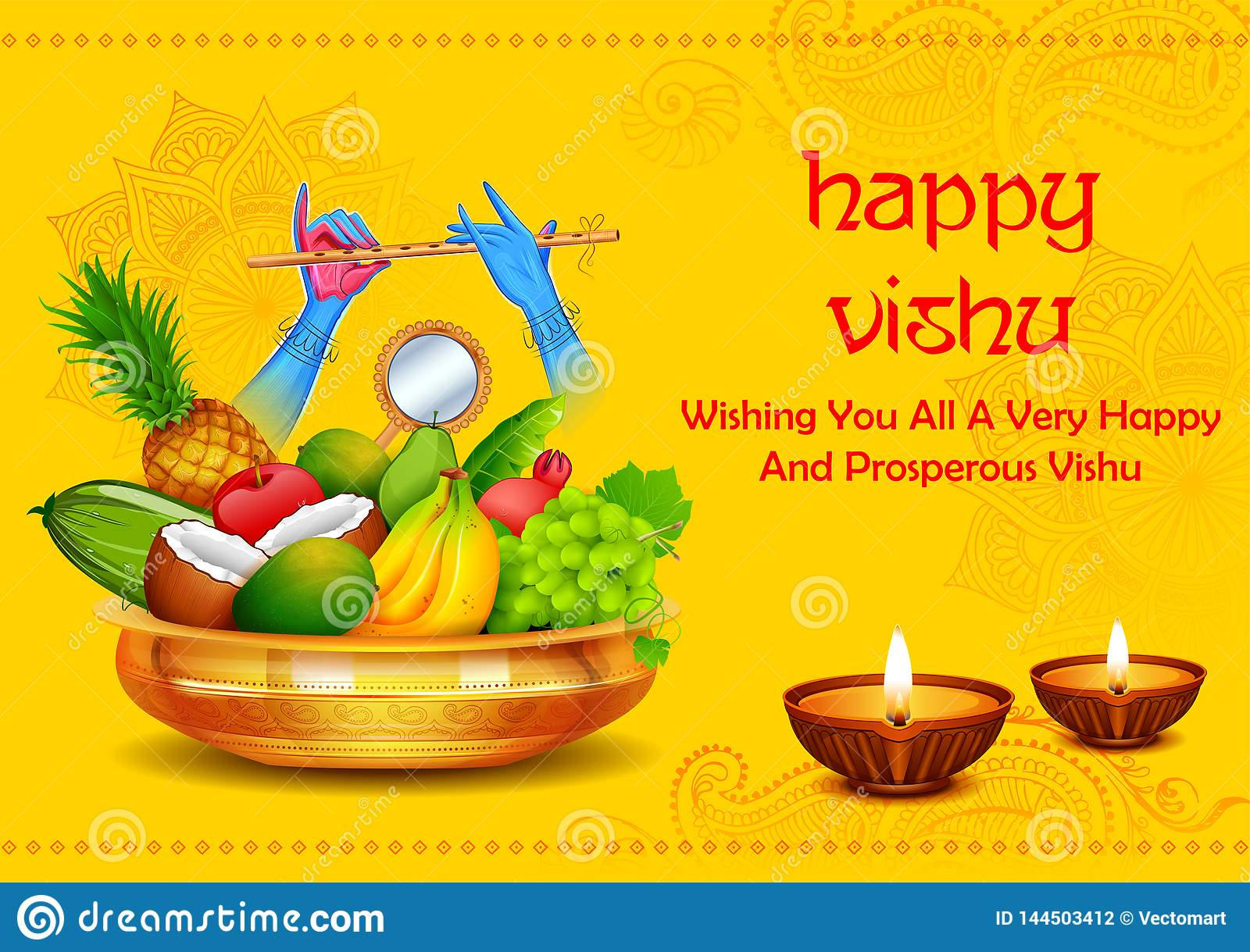happy vishu new year hindu festival celebrated in the indian state of kerala stock vector illustration of hindu india 144503412 https www dreamstime com illustration happy vishu new year hindu festival celebrated indian state kerala happy vishu new year hindu festival image144503412