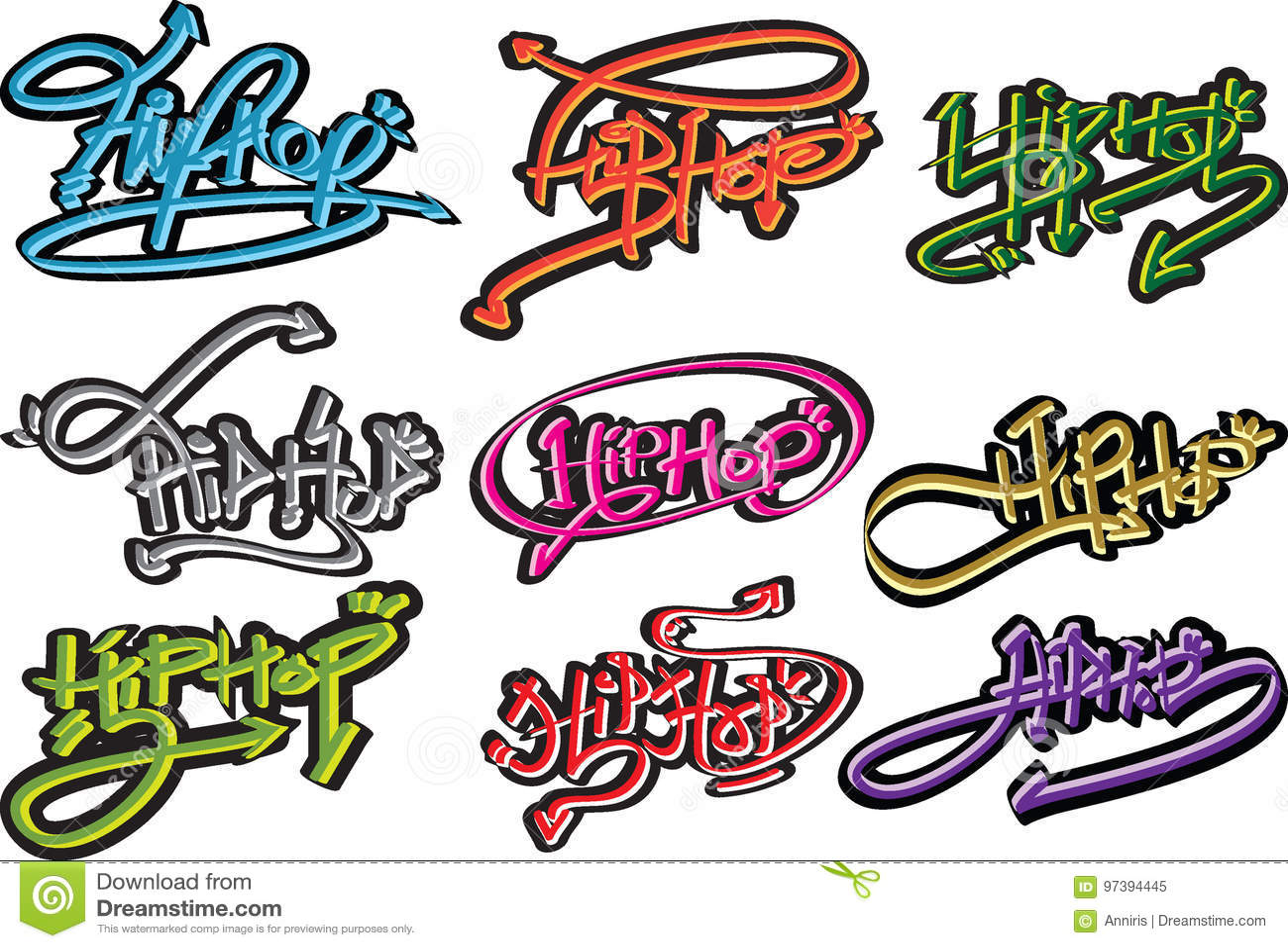 Hip-hop vector font design, english hip hop wordart, hip hop.