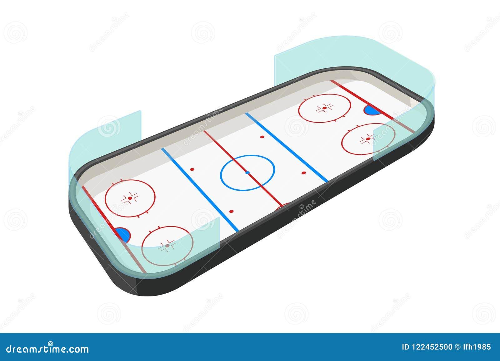 Hockey rink on white