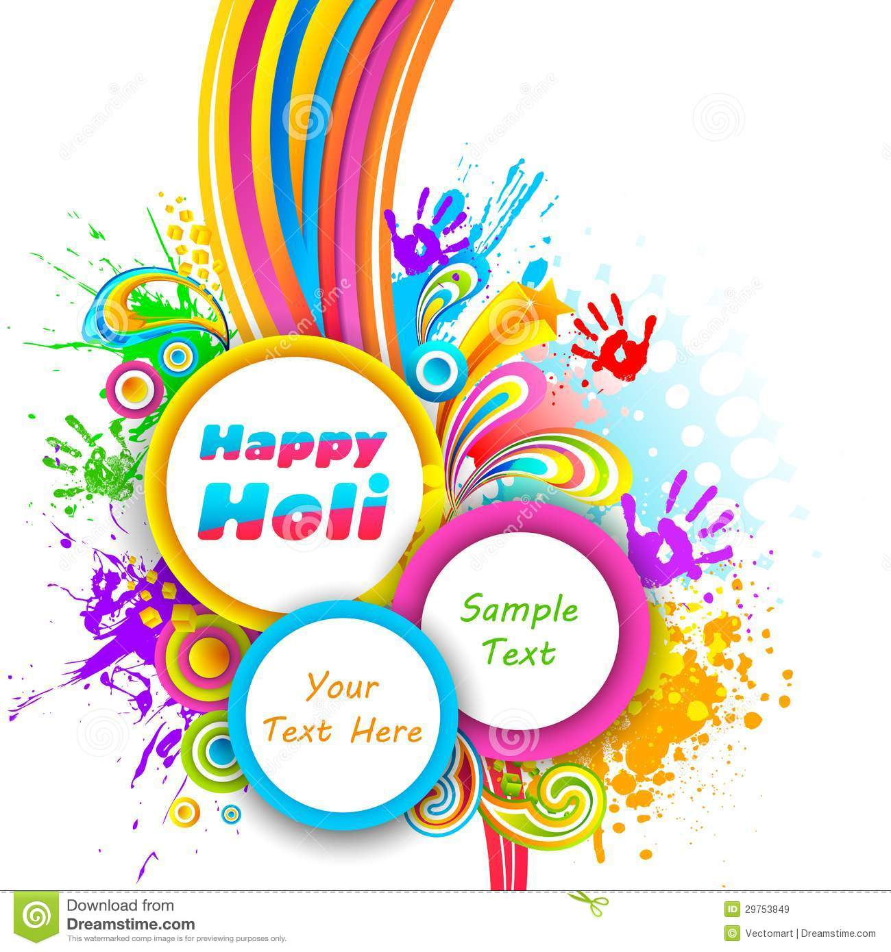 Holi Background Royalty Free Stock Images Image 29753849