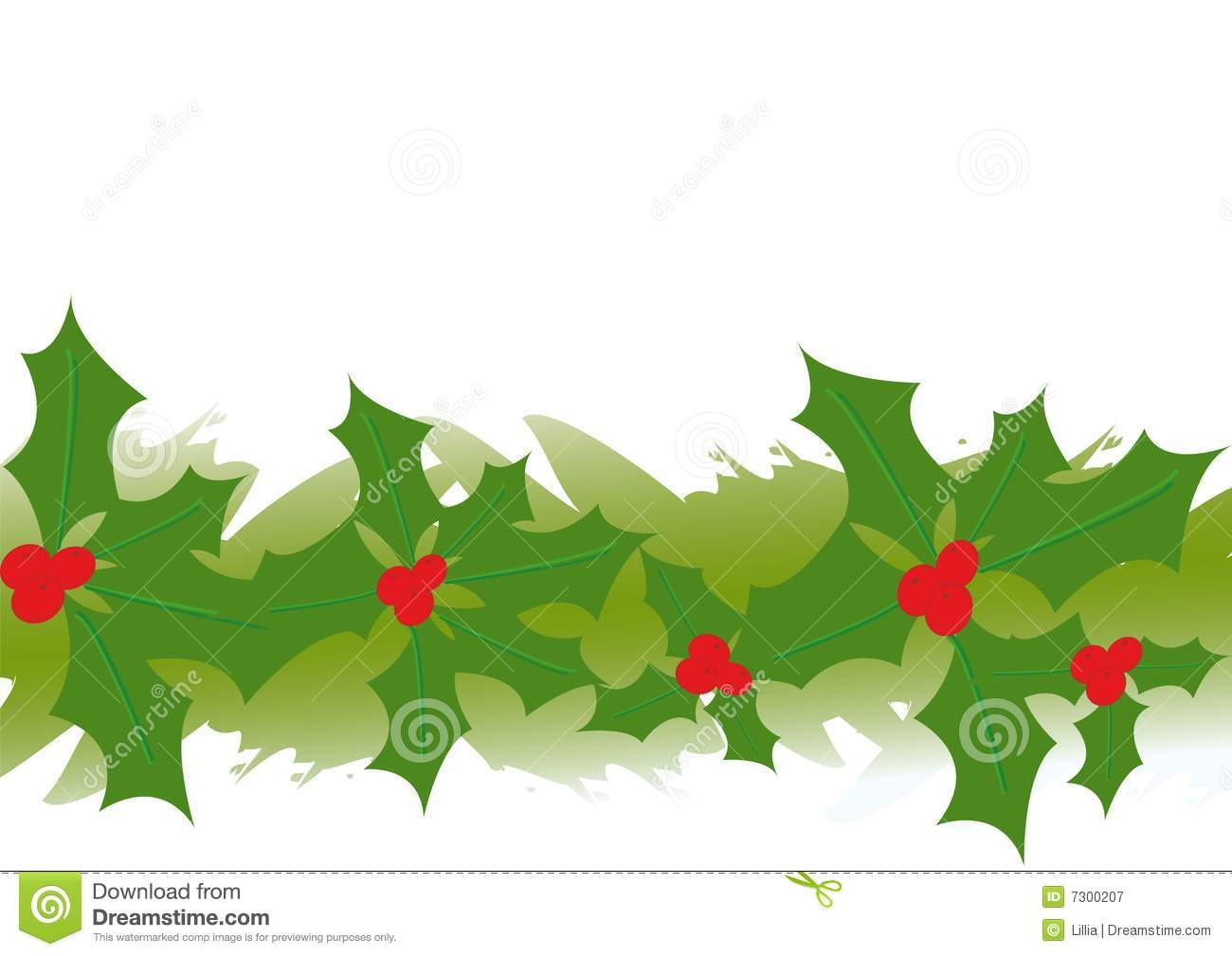 illustration of holly garland royalty free stock