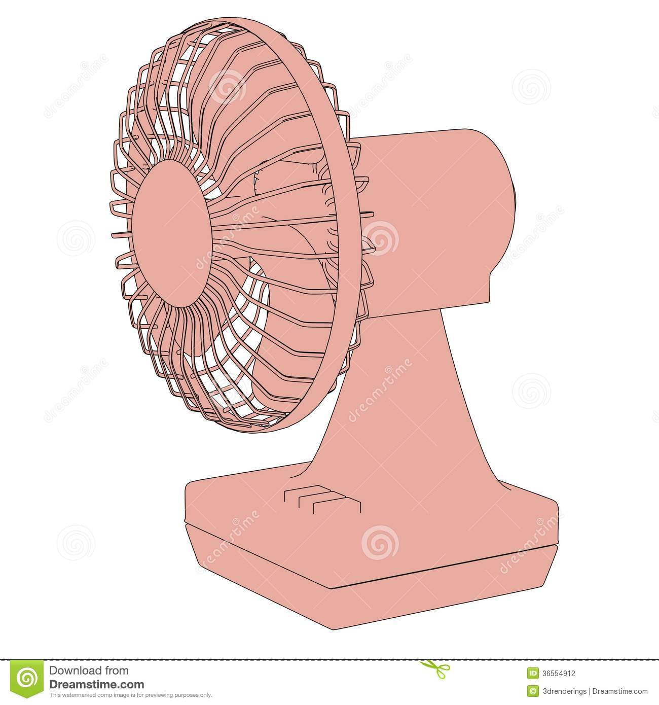 Illustration Of Home Fan Stock Photography - Image: 36554912