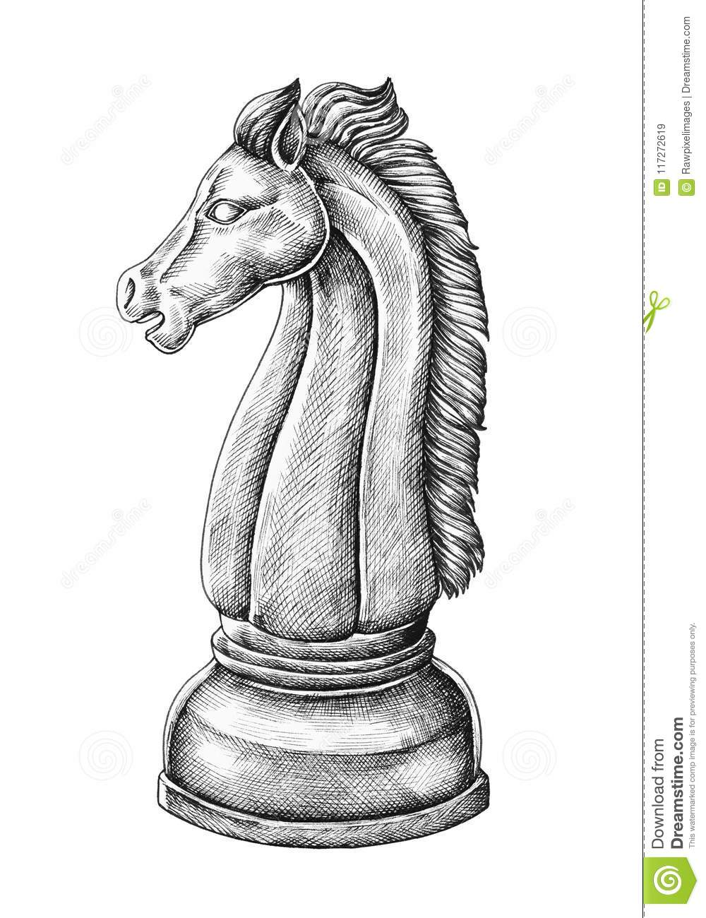 Illustration Of A Horse Chess Player Stock Illustration Illustration Of Celebration Diamond 117272619