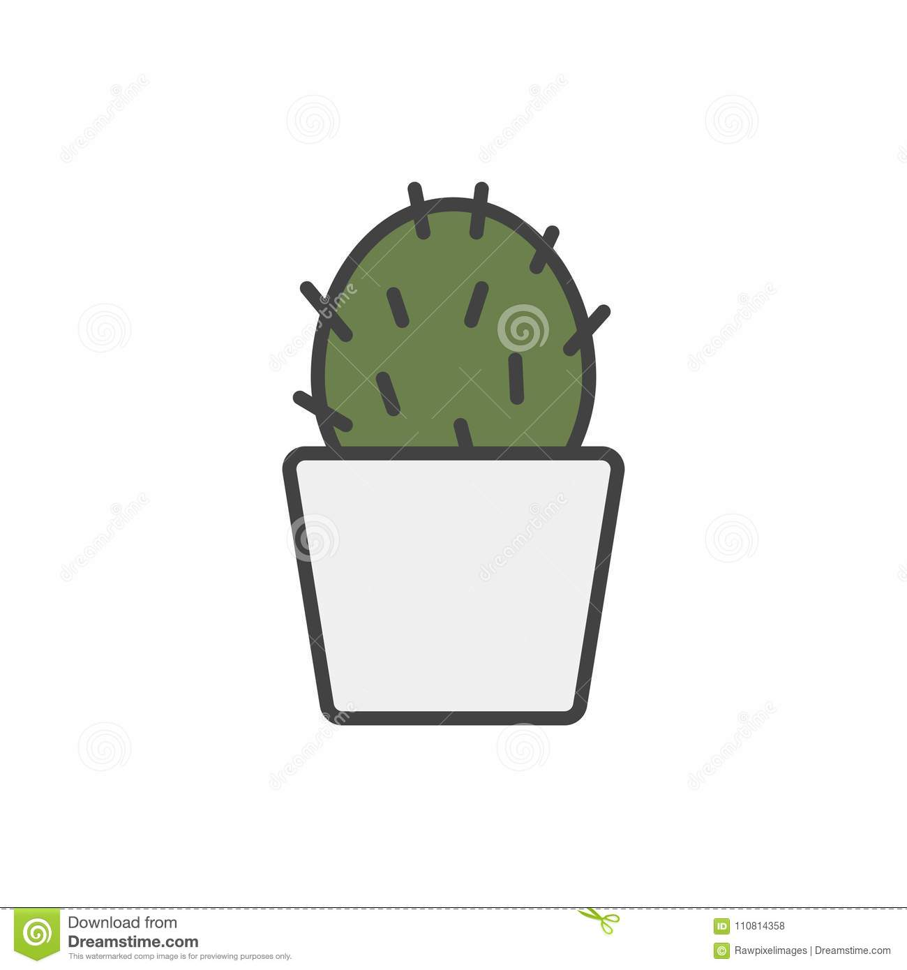 Illustration of house plants isolated