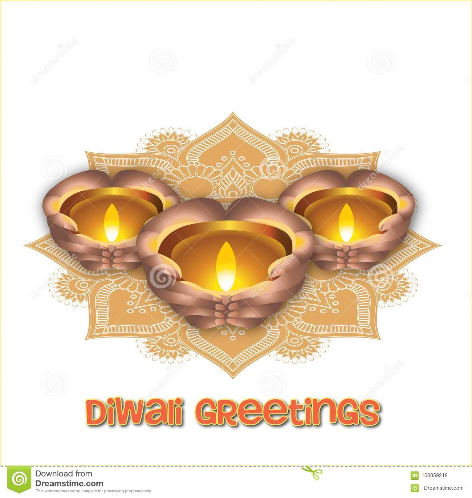 Illustration Of Indian Diwali Festival Stock Illustration