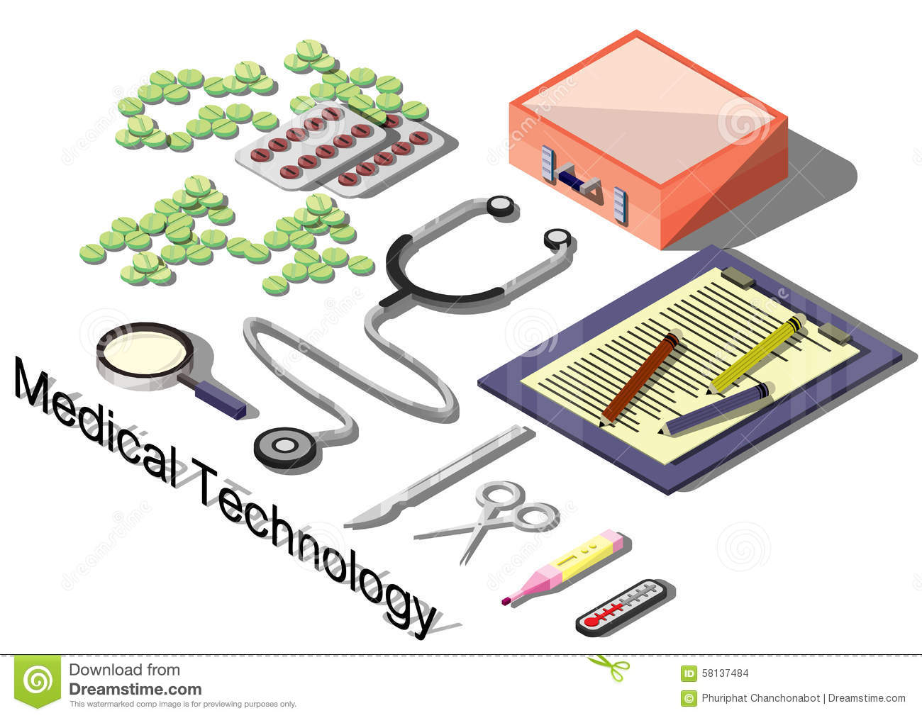 Illustration of info graphic medical concept