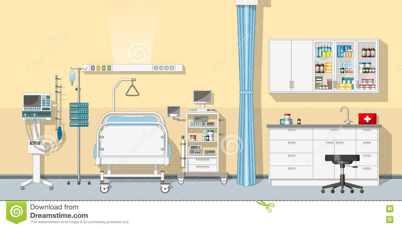 Illustration an intensive care unit stock vector image 73774525