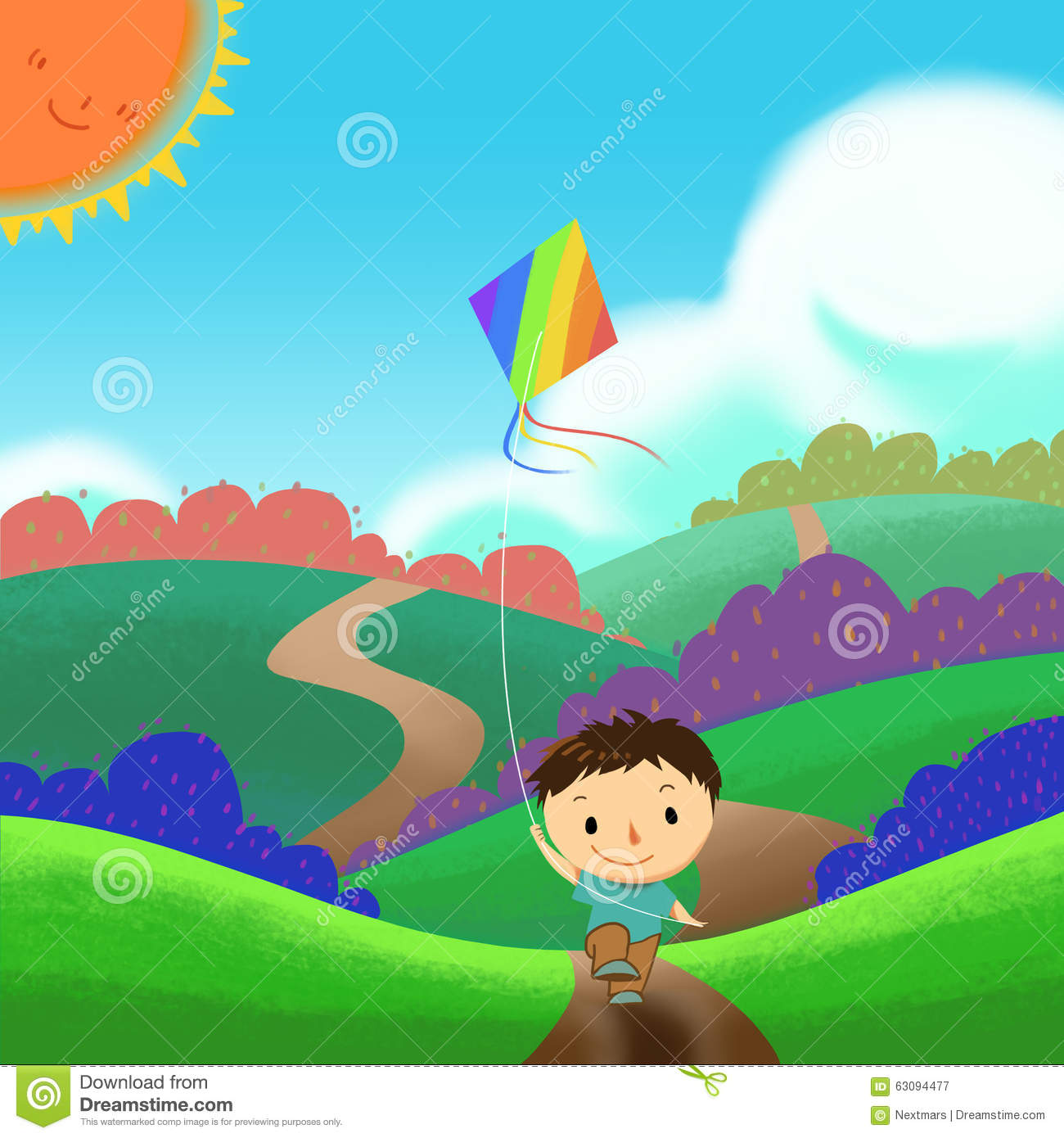 wallpaper kite cartoon - photo #27