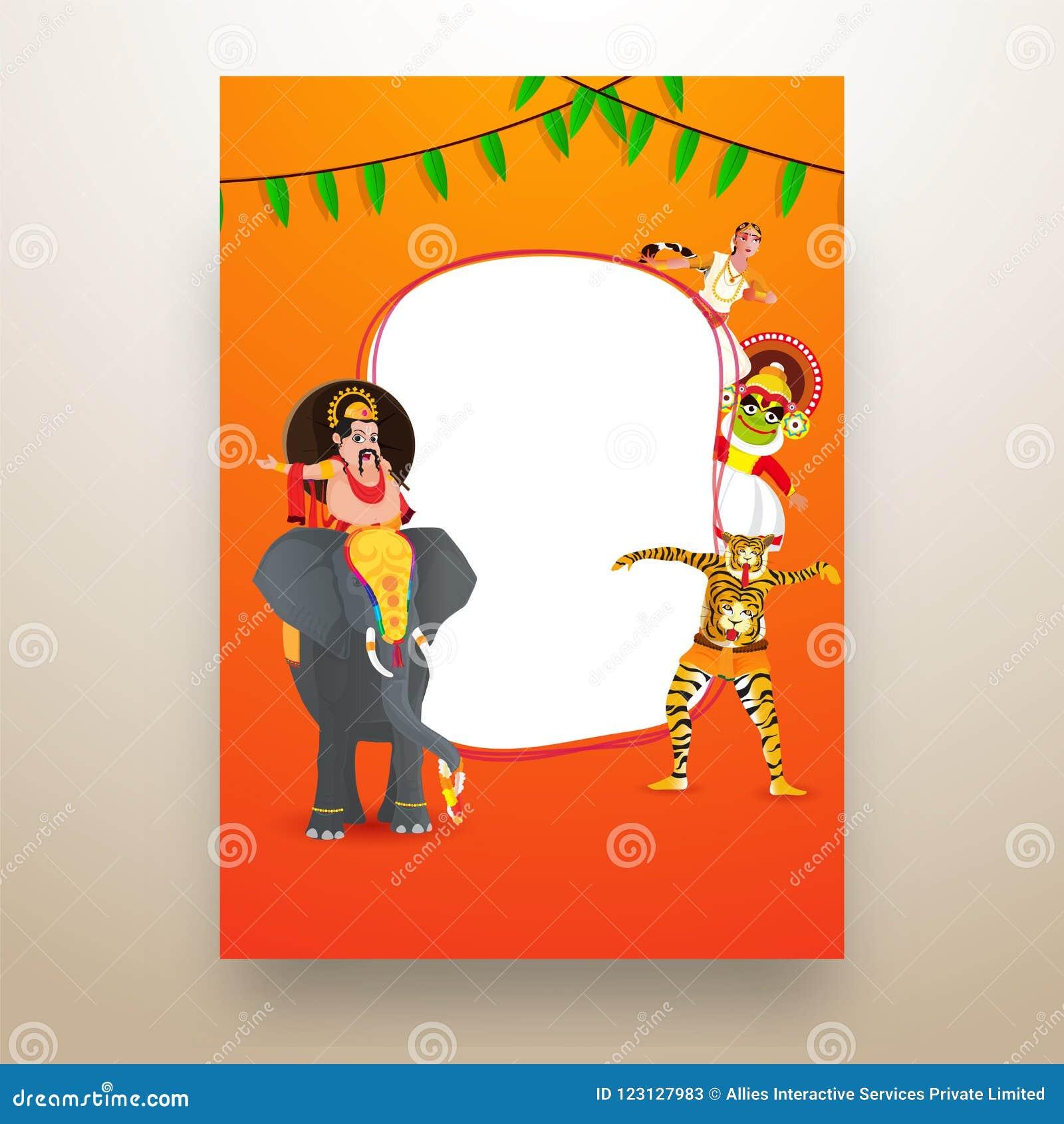 Illustration Of King Mahabali Sitting On Elephant Stock