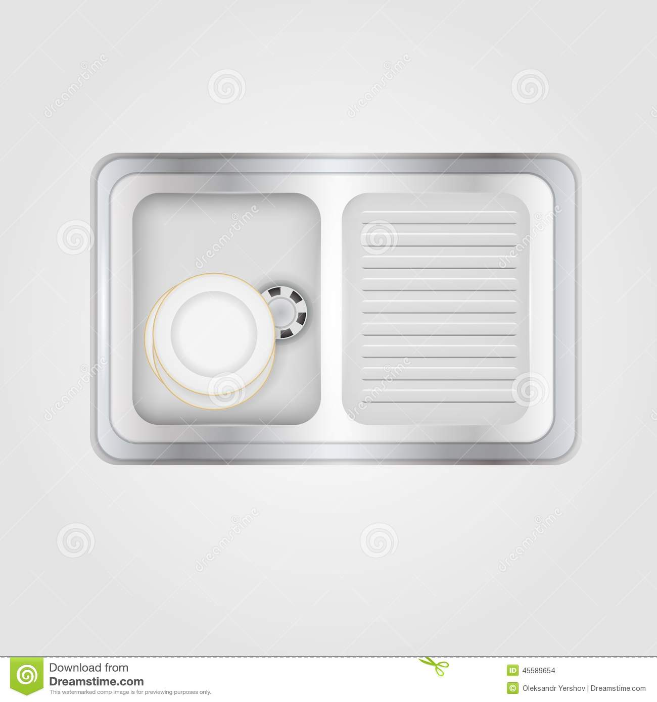 kitchen sink clipart black and white. royalty-free vector. download illustration of kitchen sink clipart black and white