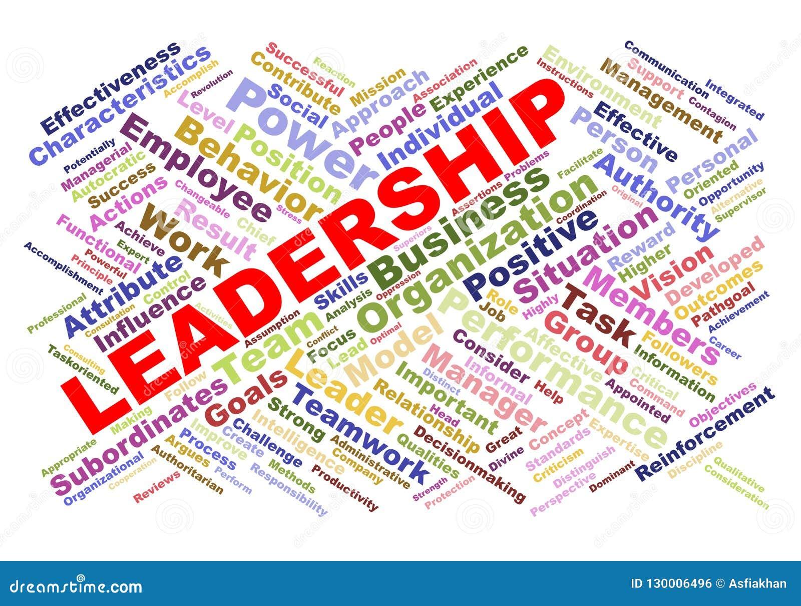 Wordcloud leader concept stock illustration  Illustration of