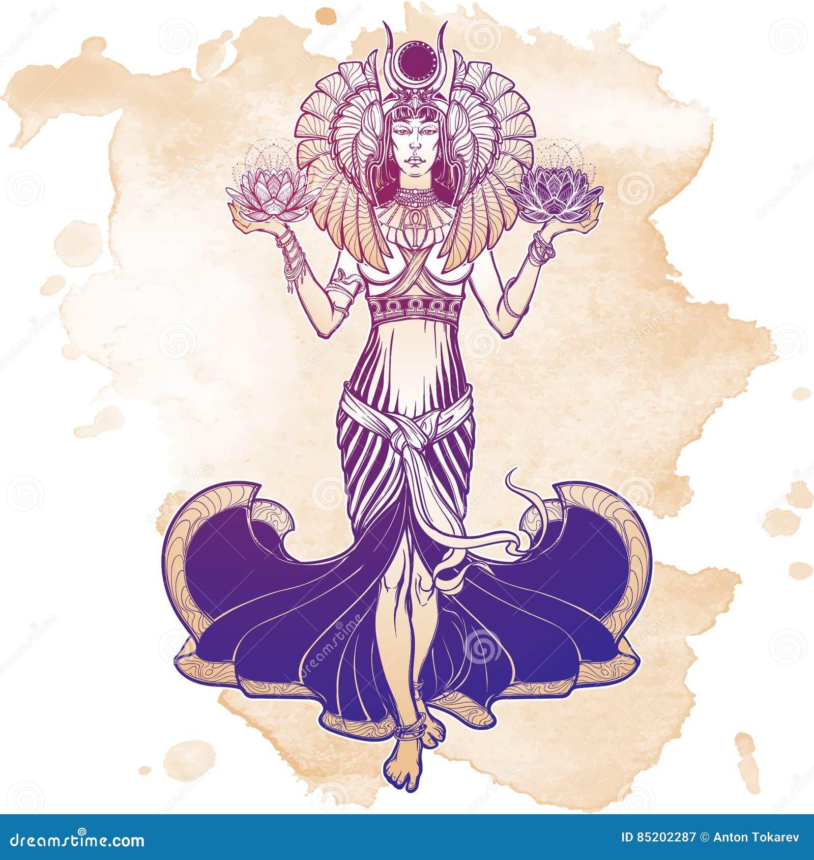 Illustration Of Libra Zodiac Sign As A Beautiful Egyptian Goddess