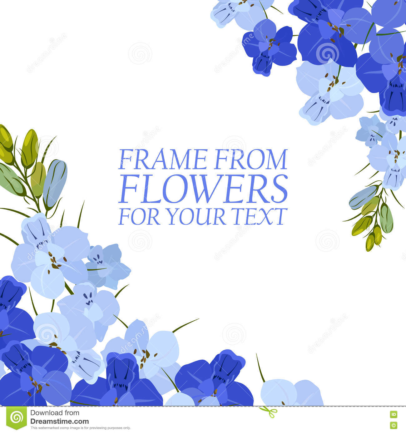 Illustration with light blue and blue flowers delphinium isolated illustration with light blue and blue flowers delphinium isolated izmirmasajfo