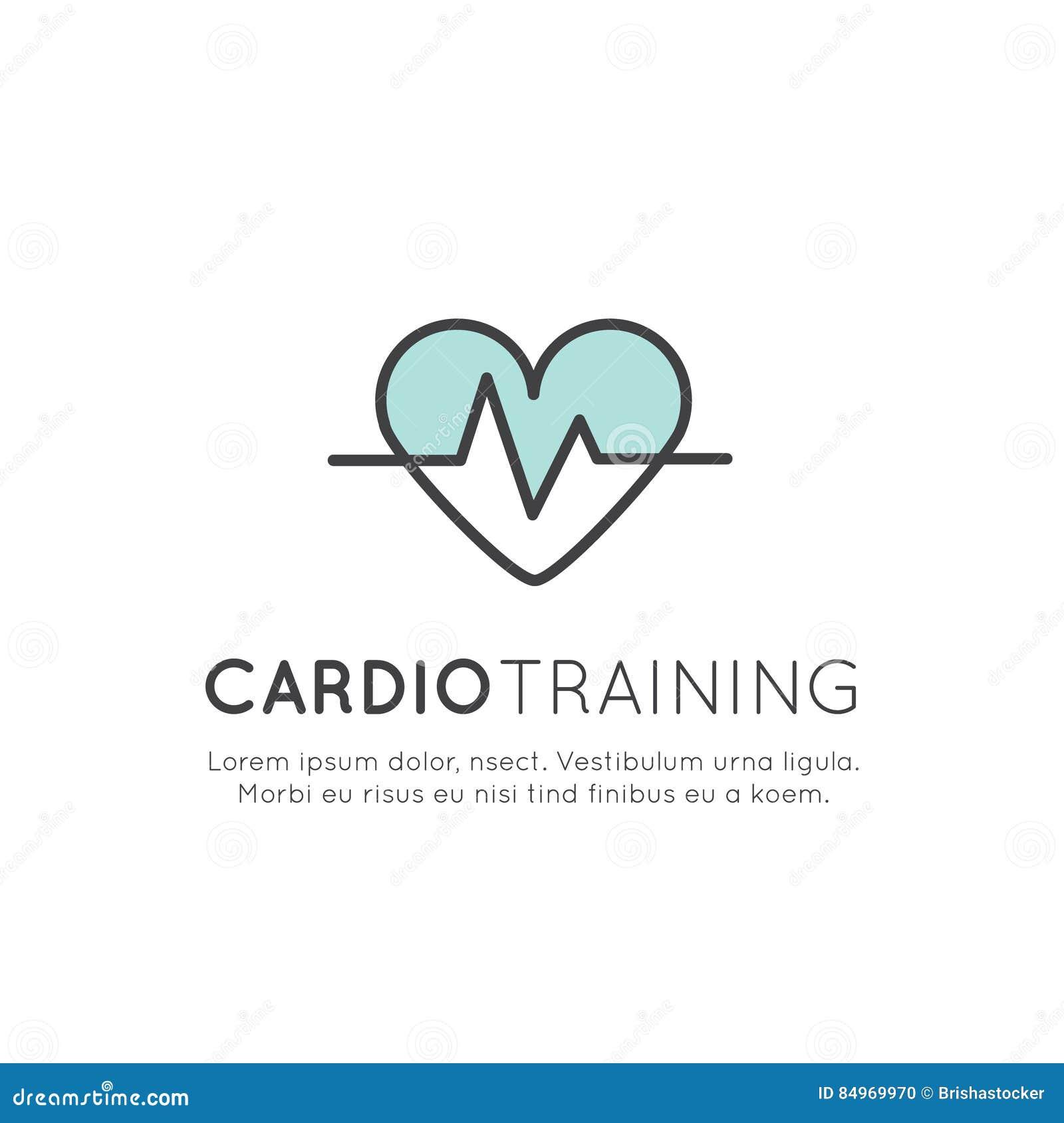 Illustration Logo Of Cardio Training