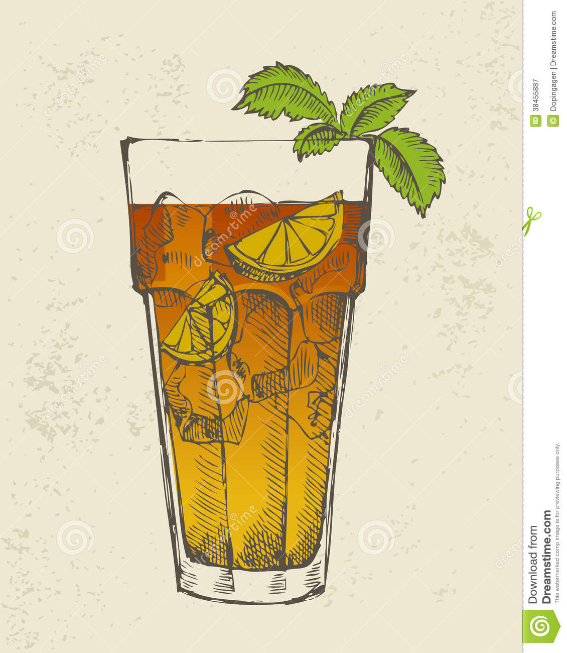 Illustration Of Long Island Tea Cocktail. Royalty Free ...