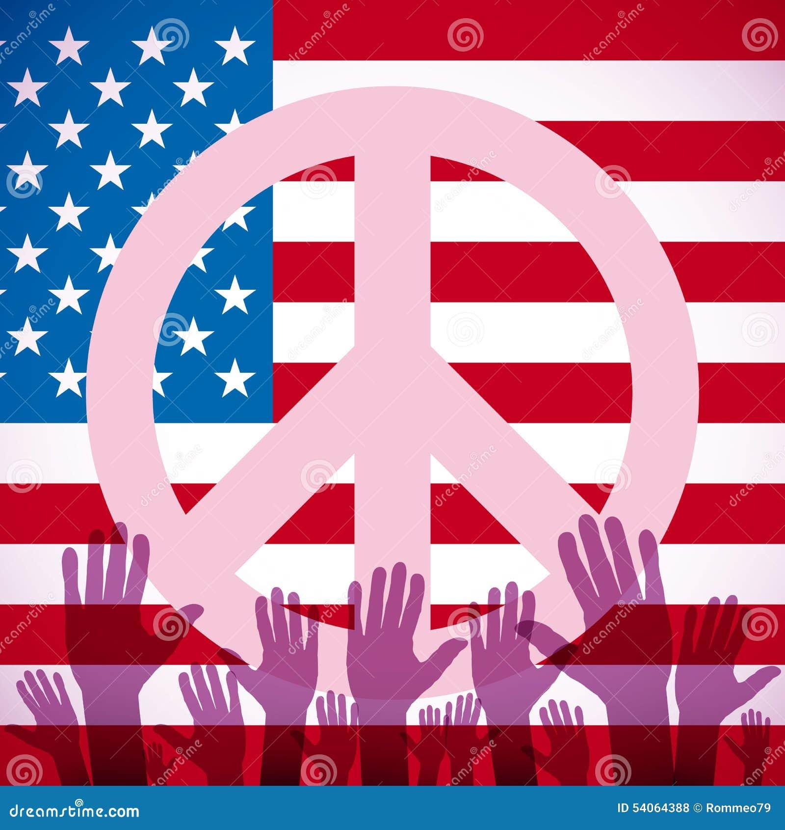 Usa peace sign stock illustration illustration of symbol 63296867 illustration long usa flag icon with peace sign royalty free stock photos biocorpaavc