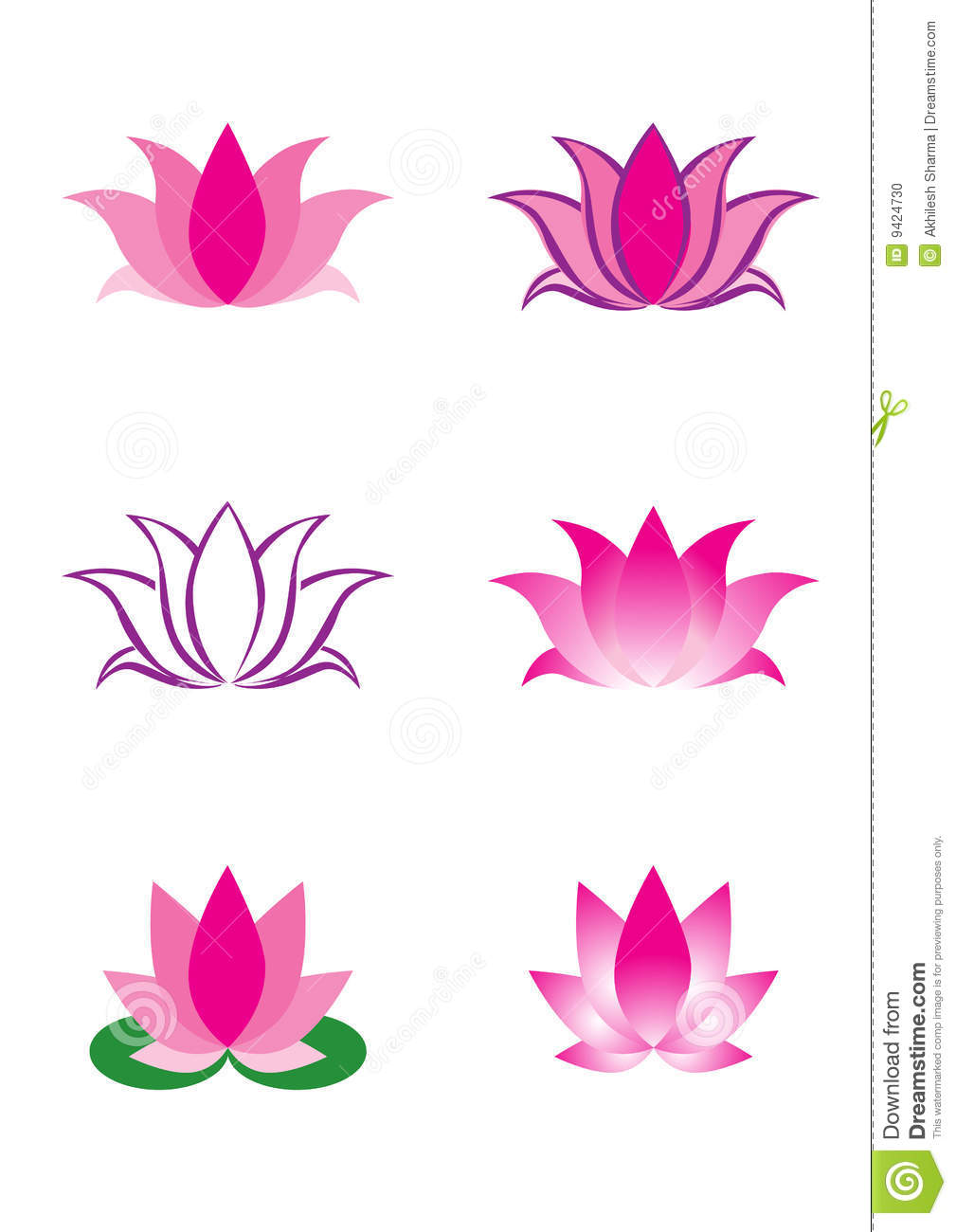 Illustration Of Lotus Flower Stock Photo - Image: 9424730