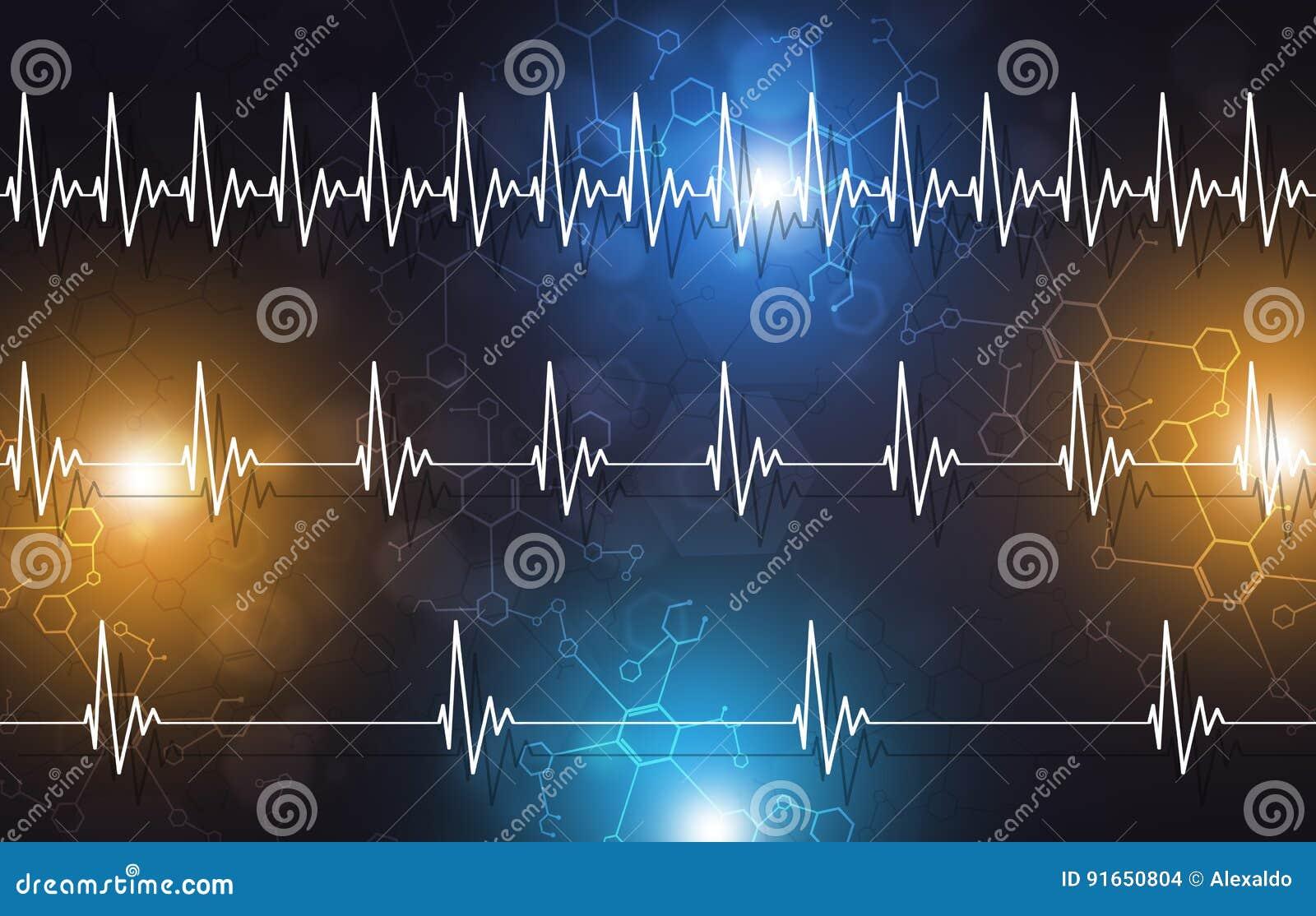 Illustration médicale de battement de coeur