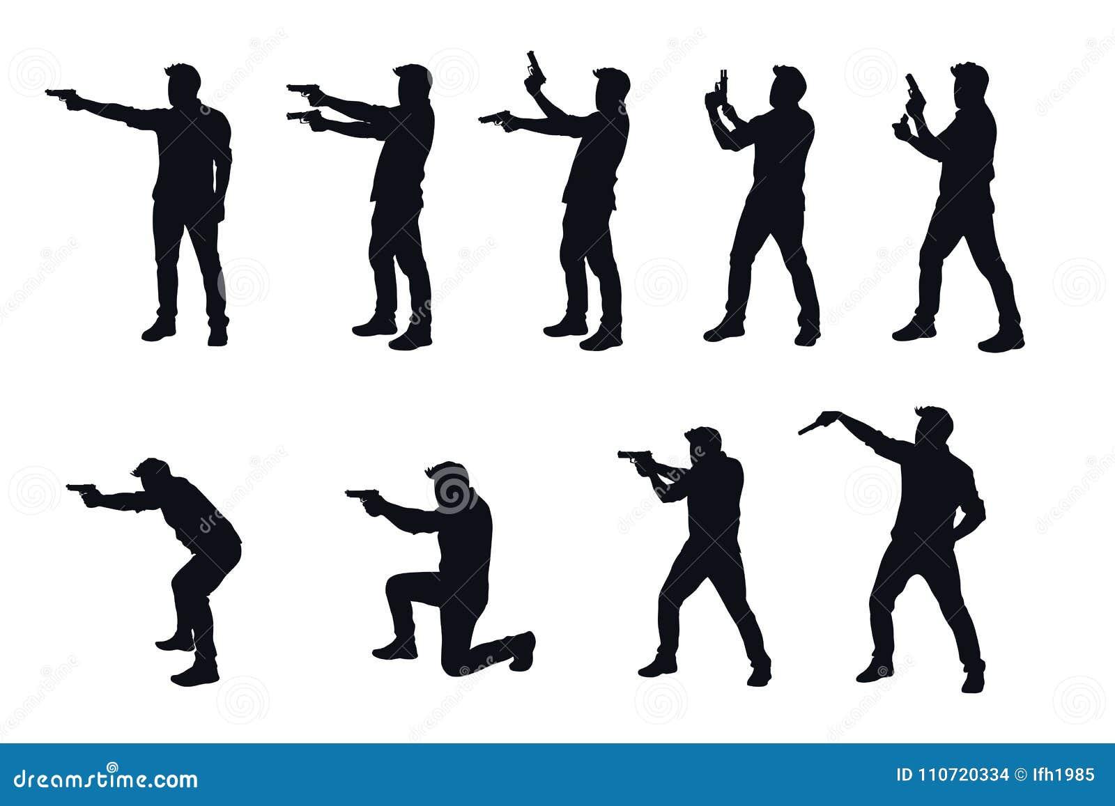 Silhouette Person Holding Gun Stock Illustrations 141 Silhouette Person Holding Gun Stock Illustrations Vectors Clipart Dreamstime