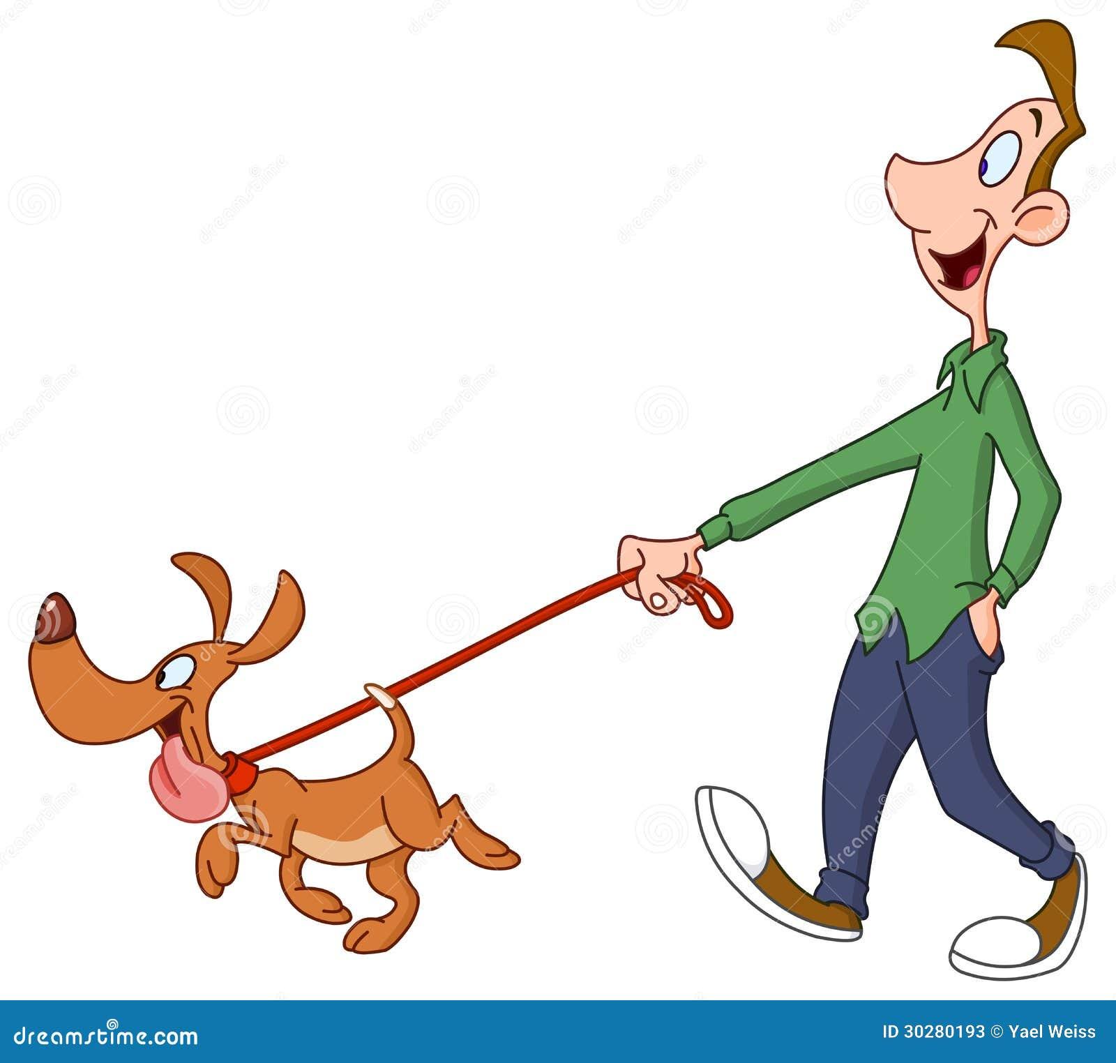 man walking dog stock vector illustration of clipart dog walk clip art boy walking dog clipart