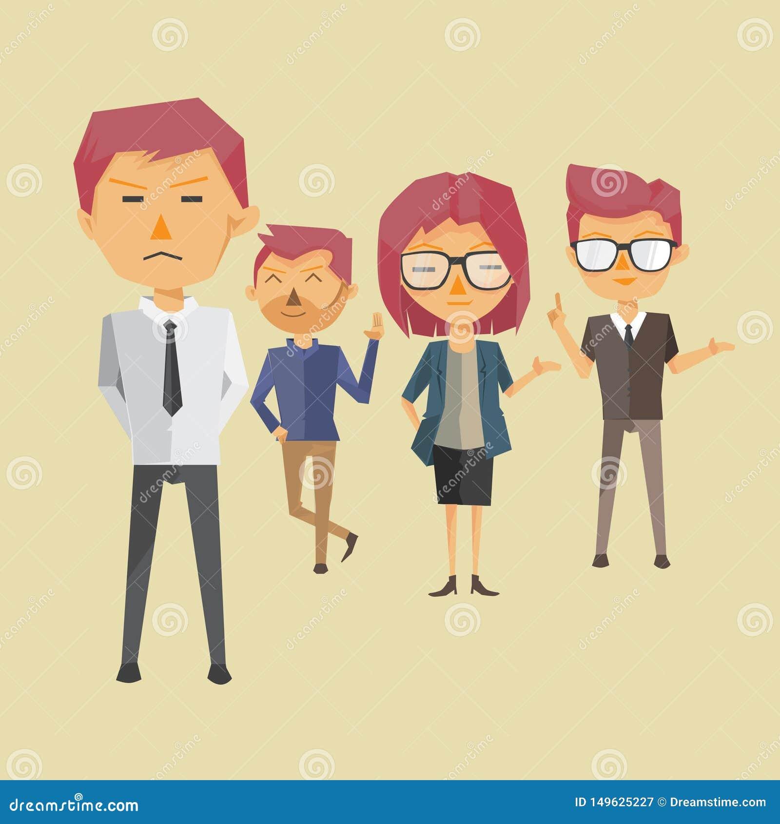 Team Work Profile Illustration Vector