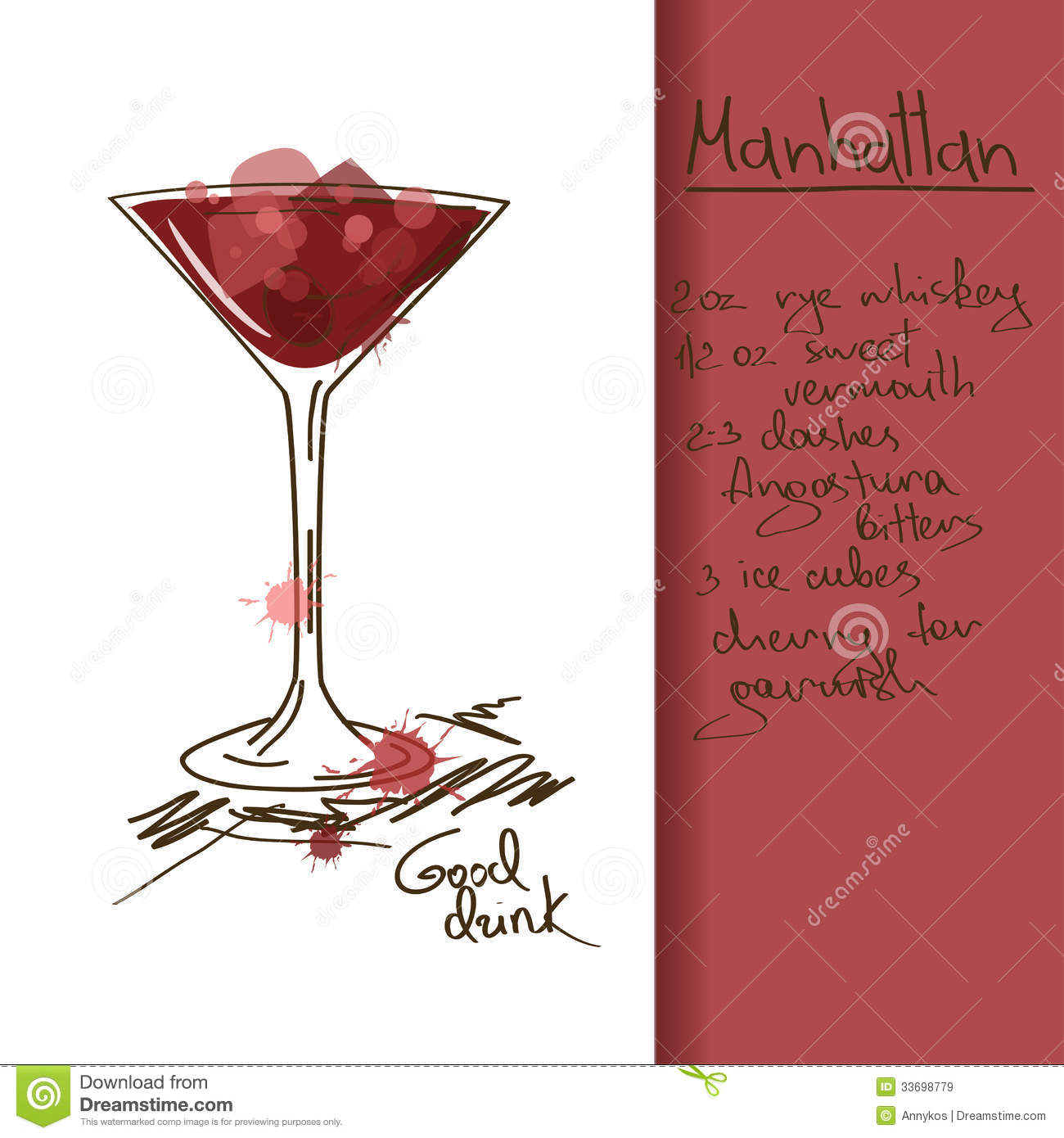 Manhattan Cocktail Stock Illustrations 699 Manhattan Cocktail Stock Illustrations Vectors Clipart Dreamstime