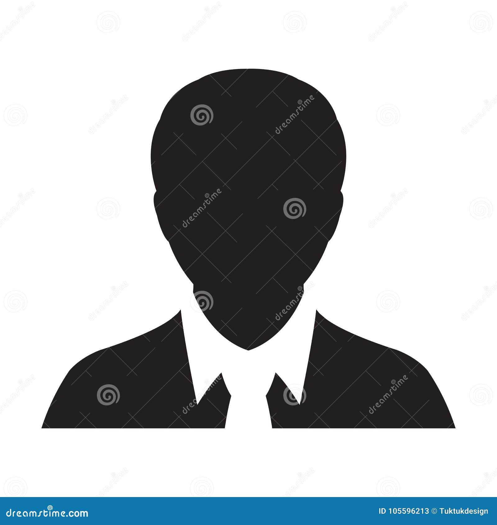 Illustration Masculine De Pictogramme De Glyph De Person