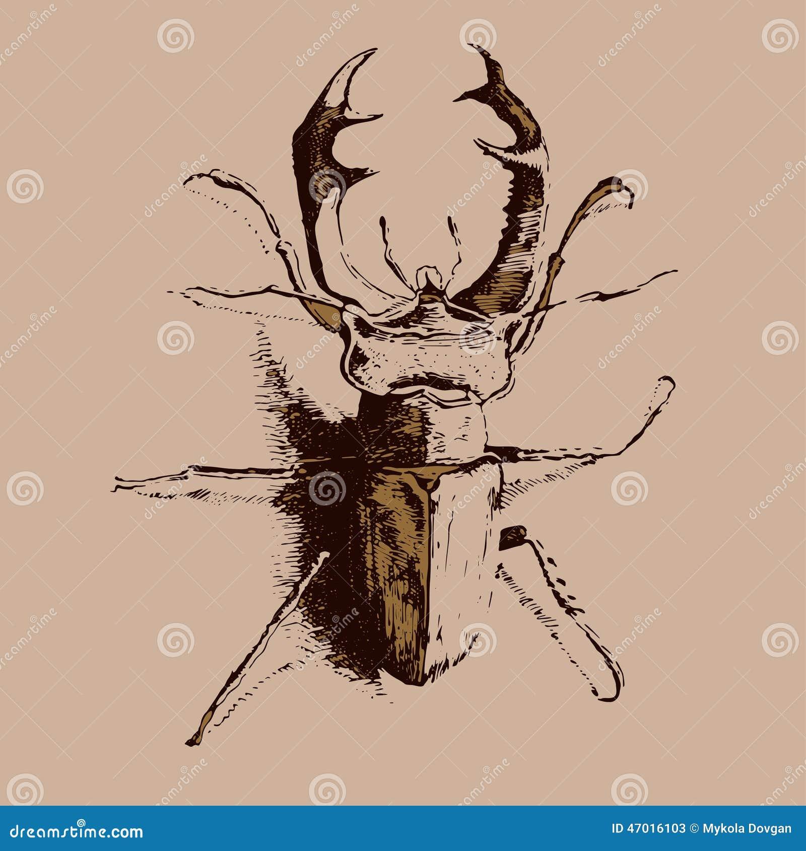 Illustration med kulöra utskjutande hjortar