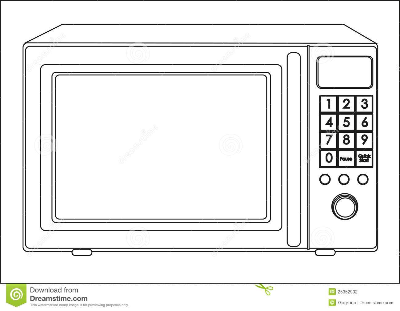 microwave clipart. royalty-free stock photo microwave clipart