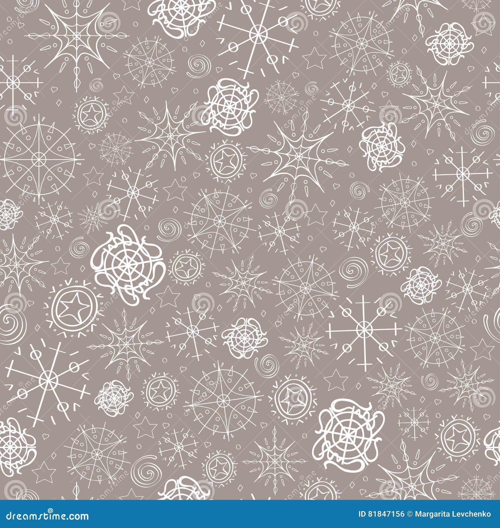 illustration, modèle image des flocons de neige, hiver couleur