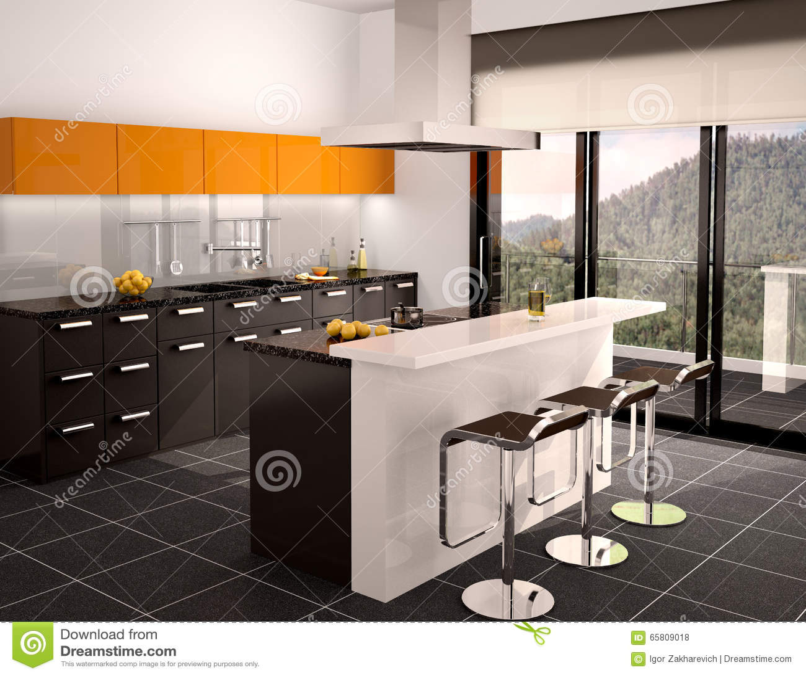 Illustration Of Modern Black And Orange Stock Illustration