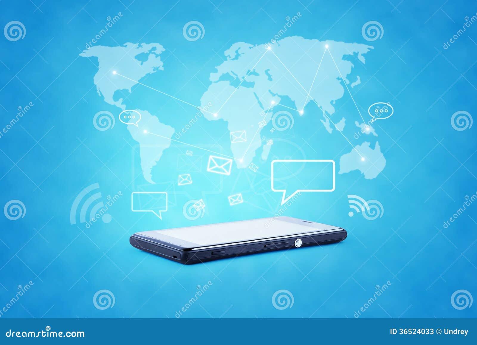 Illustration moderne de technologie des communications avec
