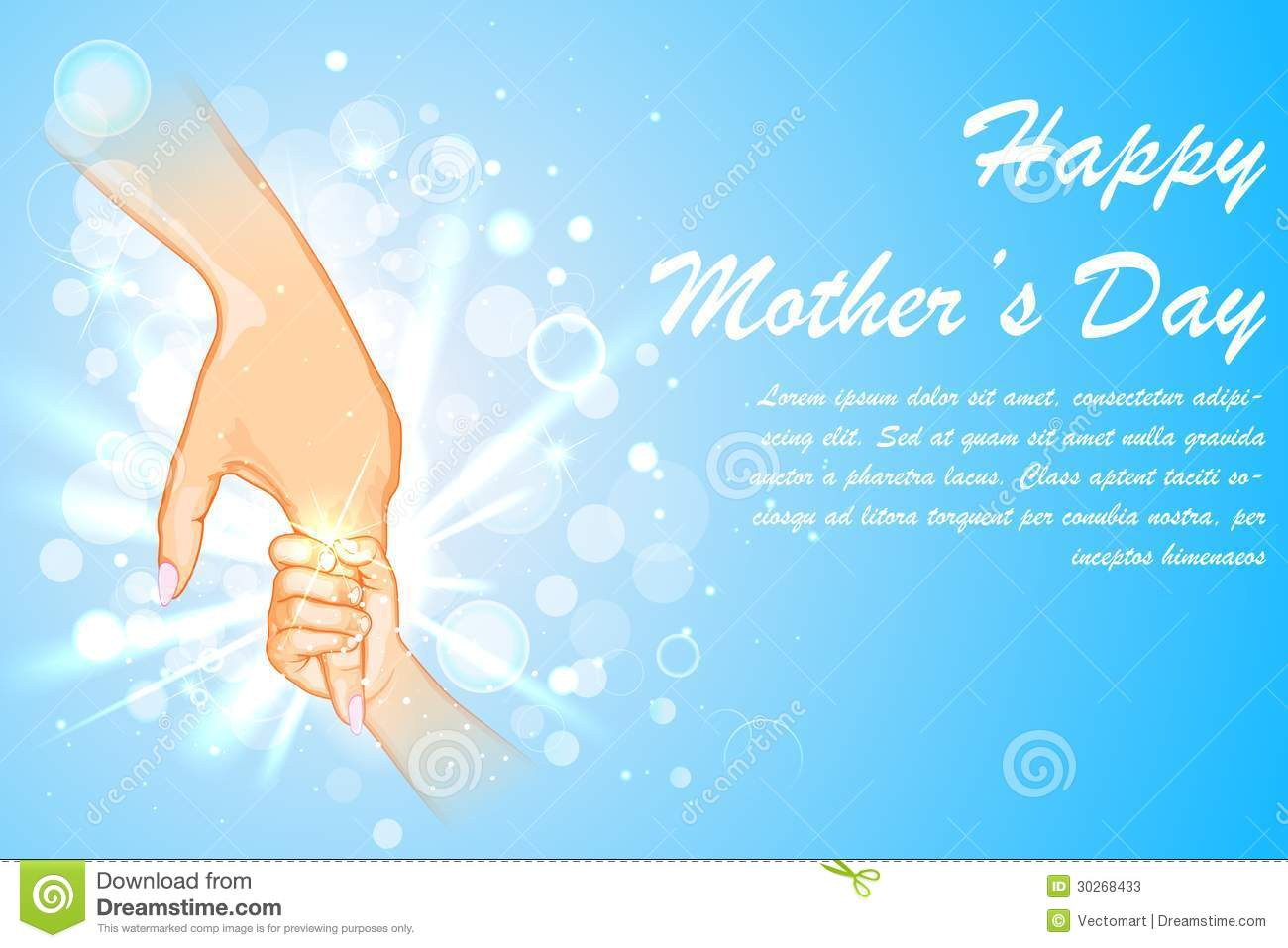 Mother holding hand of child on Mother s Day