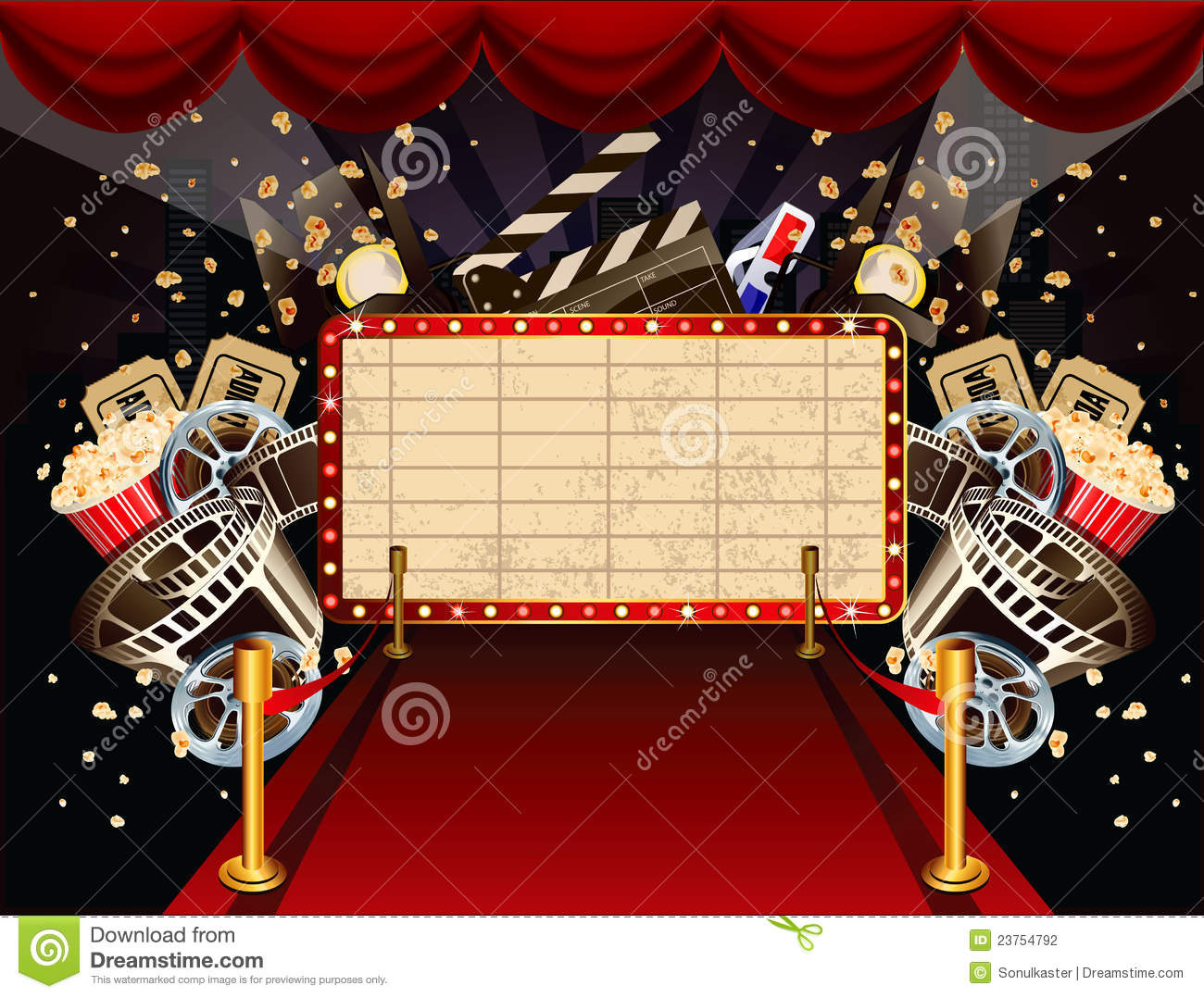 Illustration On Movie Theme Stock Vector Illustration Of