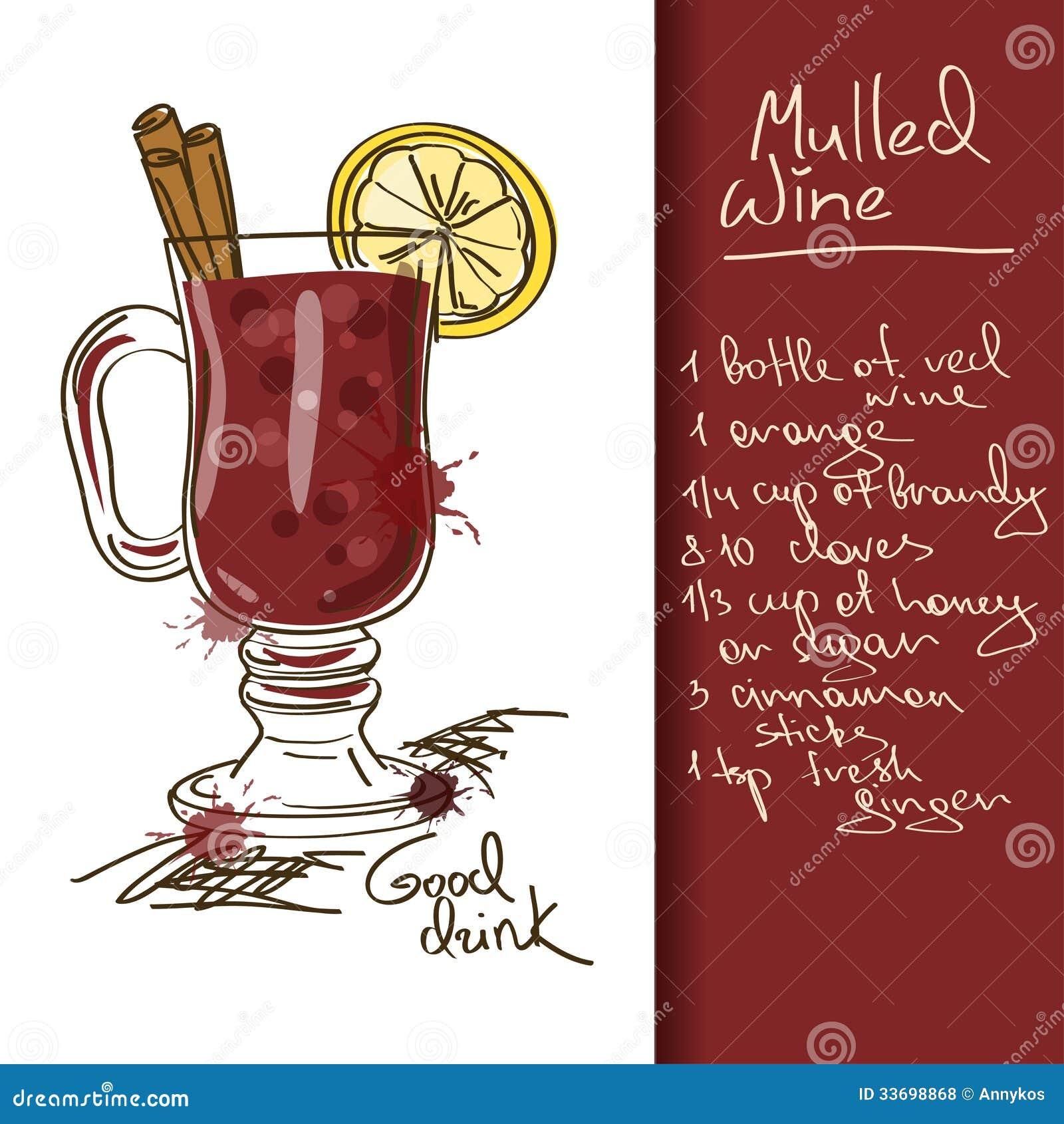 illustration with mulled wine cocktail stock vector. Black Bedroom Furniture Sets. Home Design Ideas