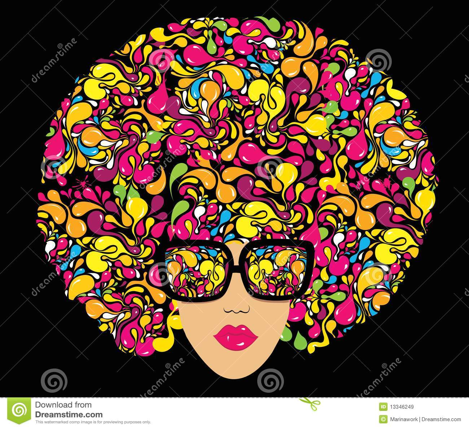 Illustration multicolore lumineuse de mode.
