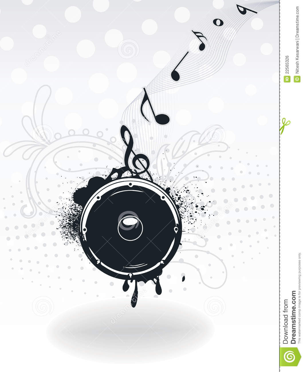 Illustration For A Musical Theme With Speaker Stock Vector