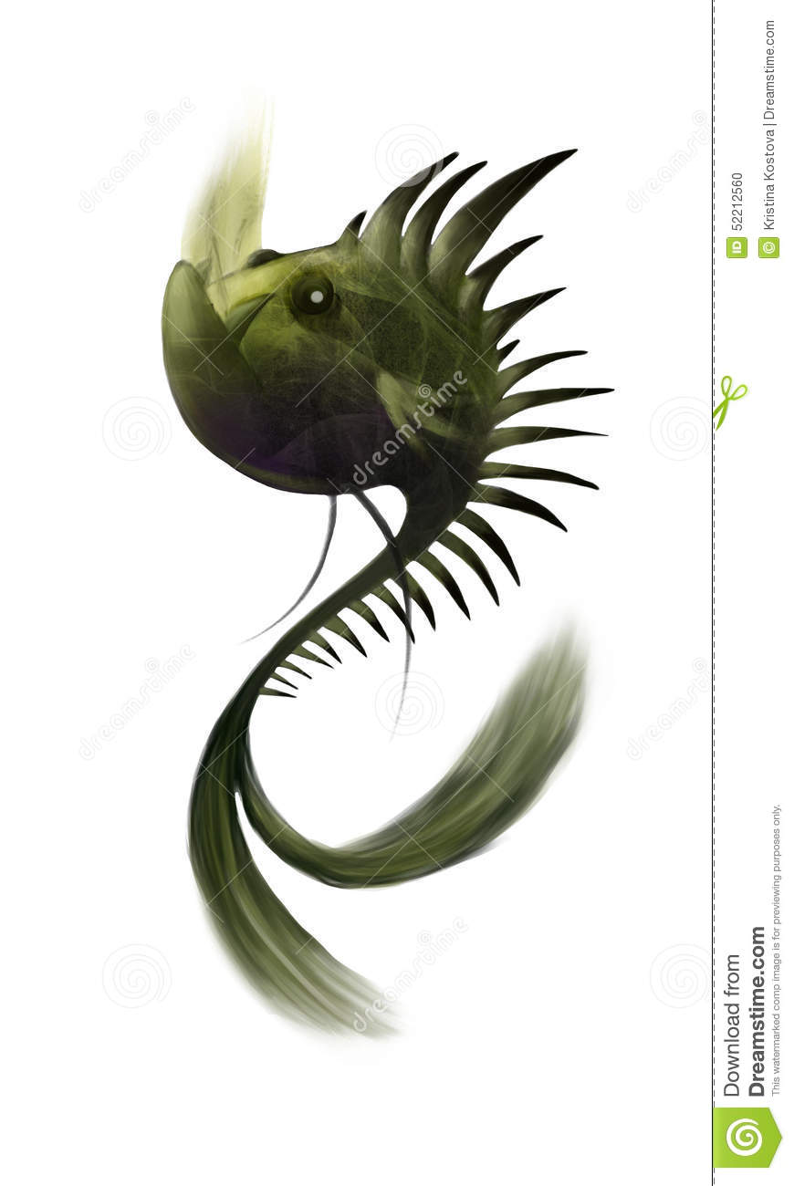 Illustration Of A Mythical Creature Stock Illustration ...
