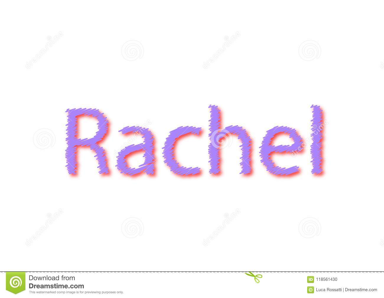 illustration name rachel isolated in a white background stock
