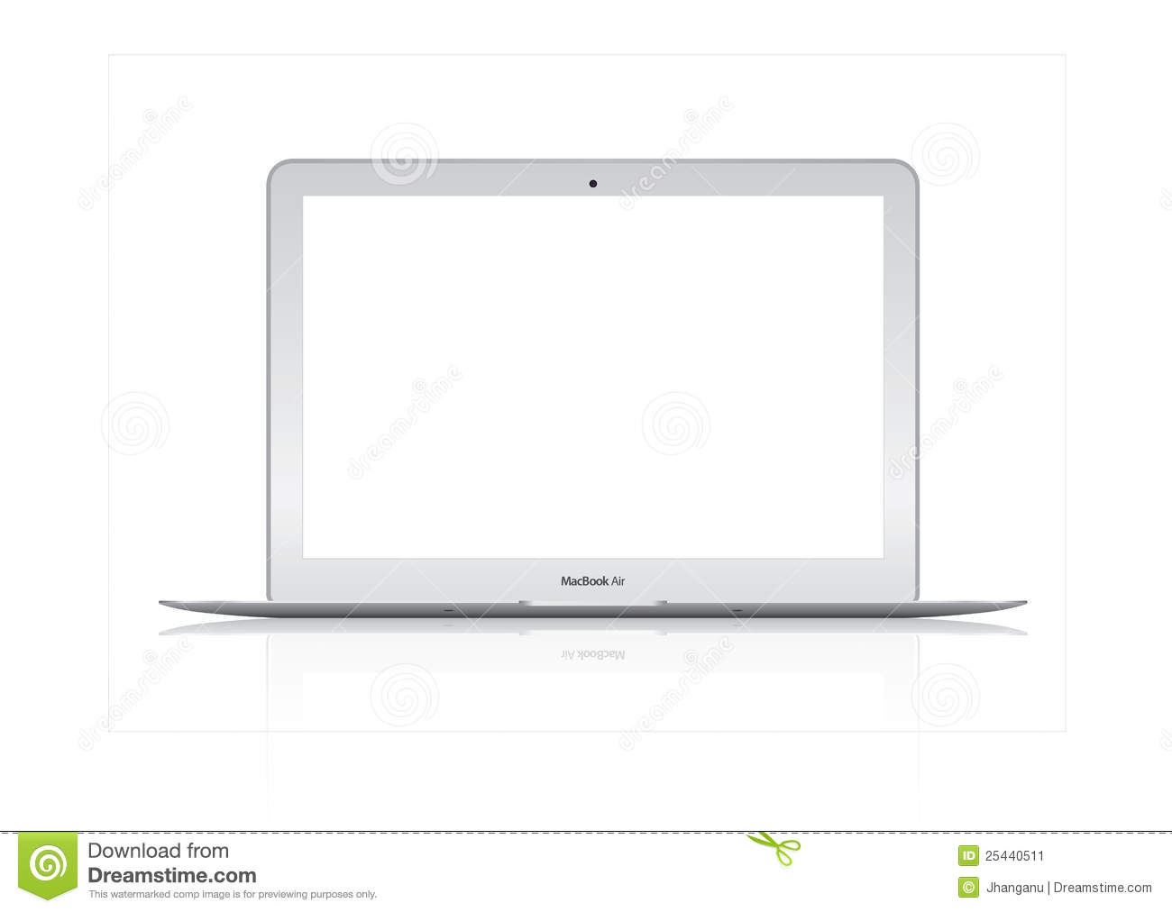 Illustration of New Apple Mac Book Air laptop