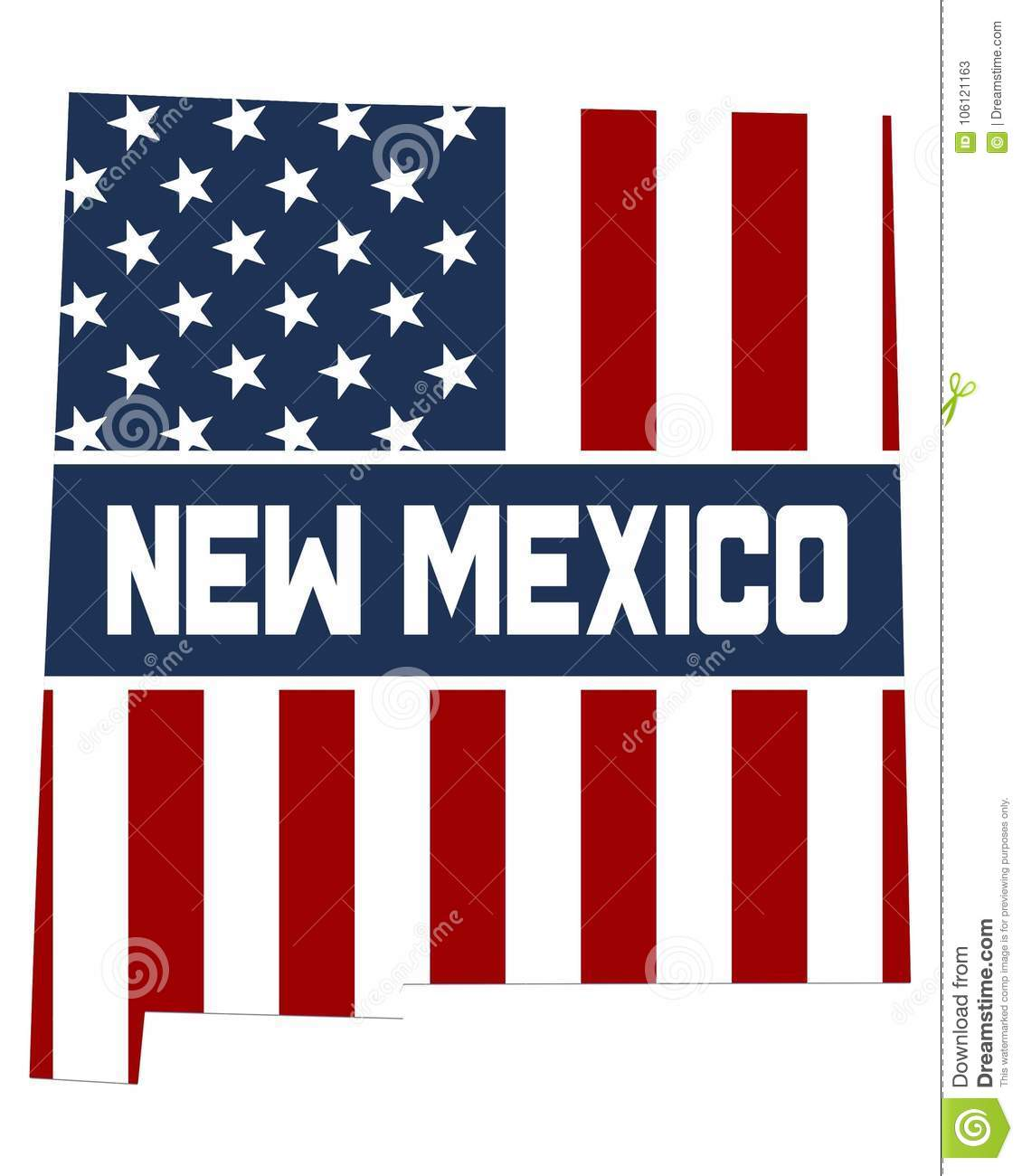 Map of New Mexico State stock illustration. Illustration of america ...