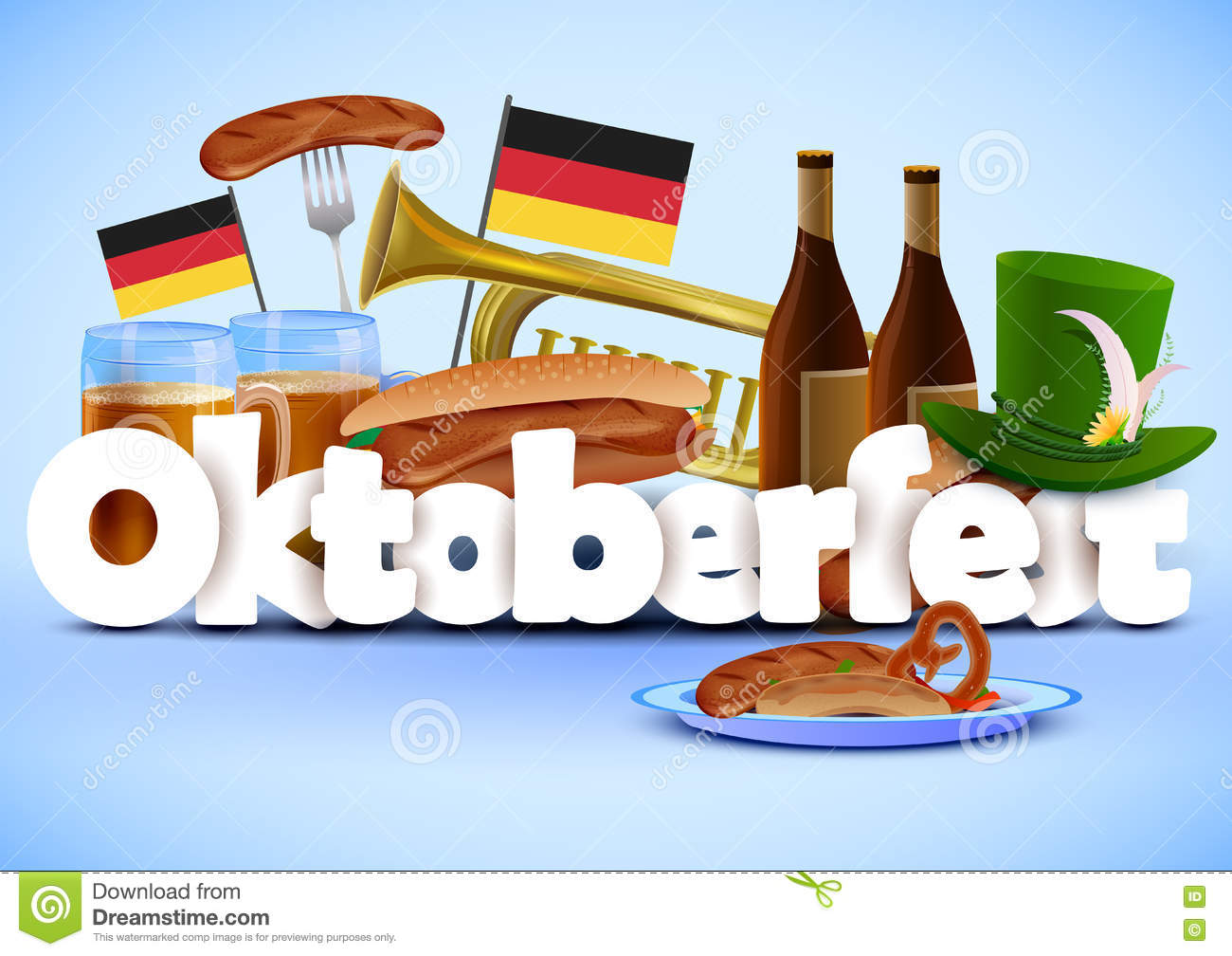 Illustration Of Oktoberfest Wallpaper Holiday Background ...