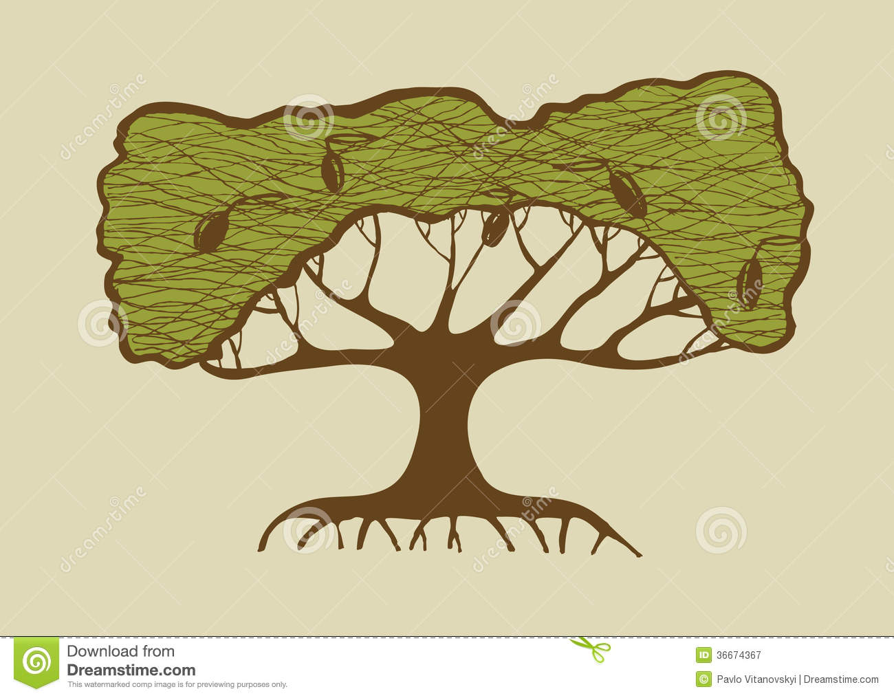Illustration of old olive tree stock vector illustration of illustration of old olive tree buycottarizona Choice Image