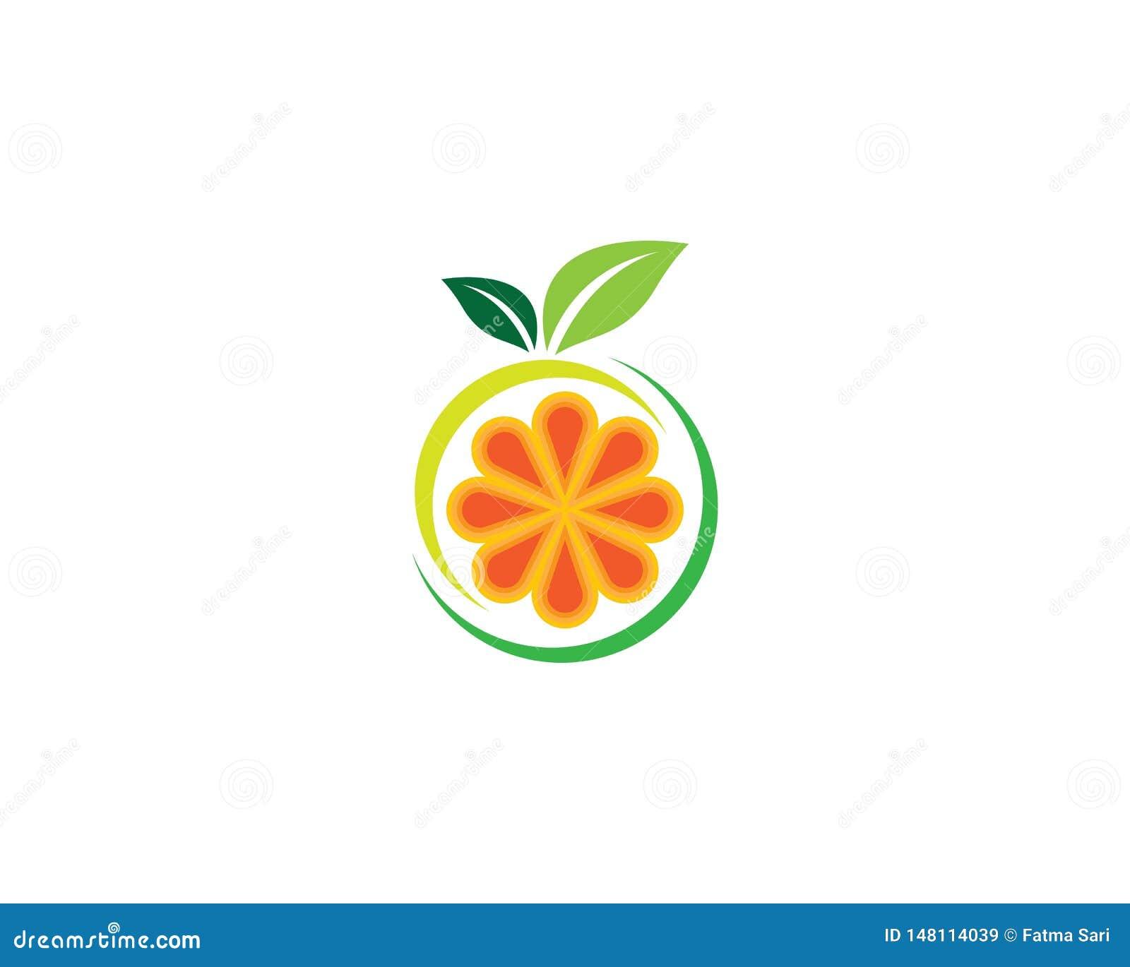 Illustration orange de symbole